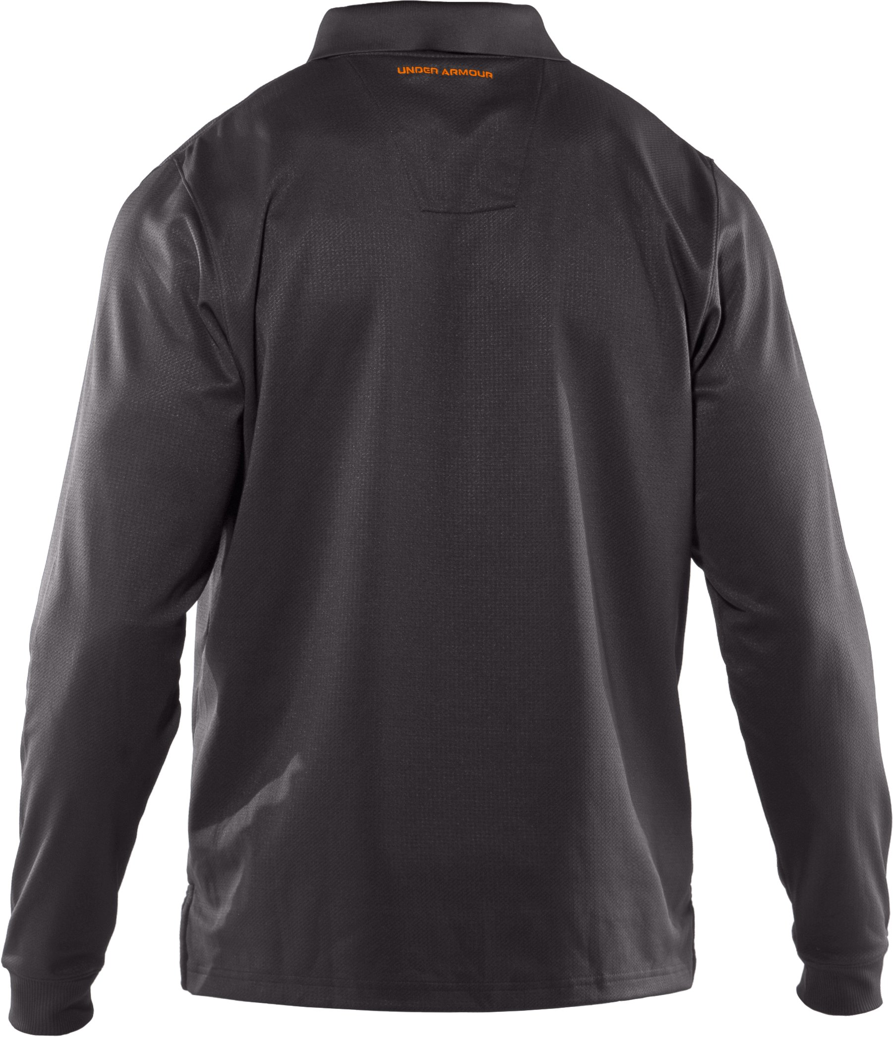Men's UA Performance Long Sleeve Polo, Charcoal