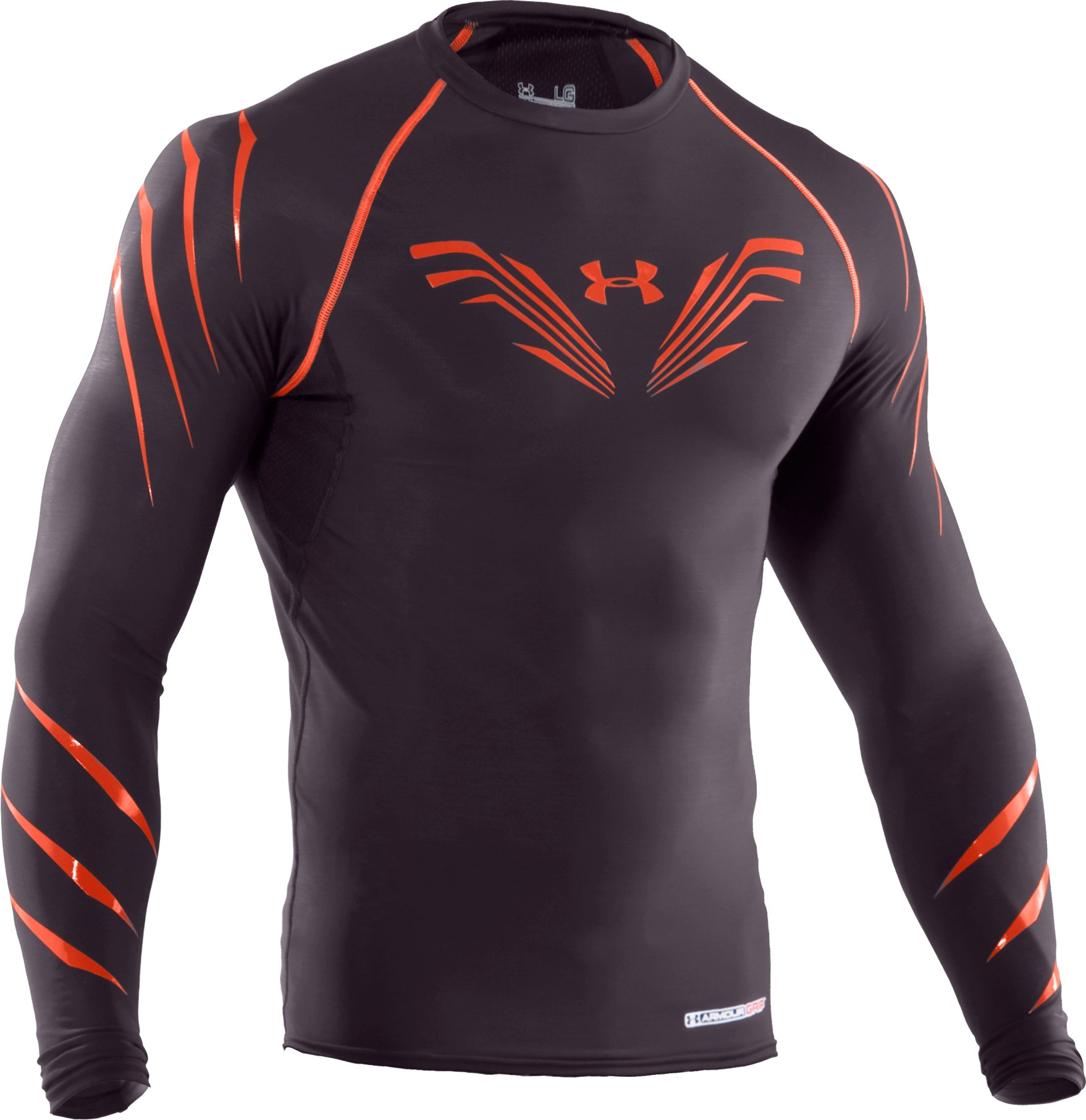 Men's Hockey Compression Grippy T-Shirt, Charcoal