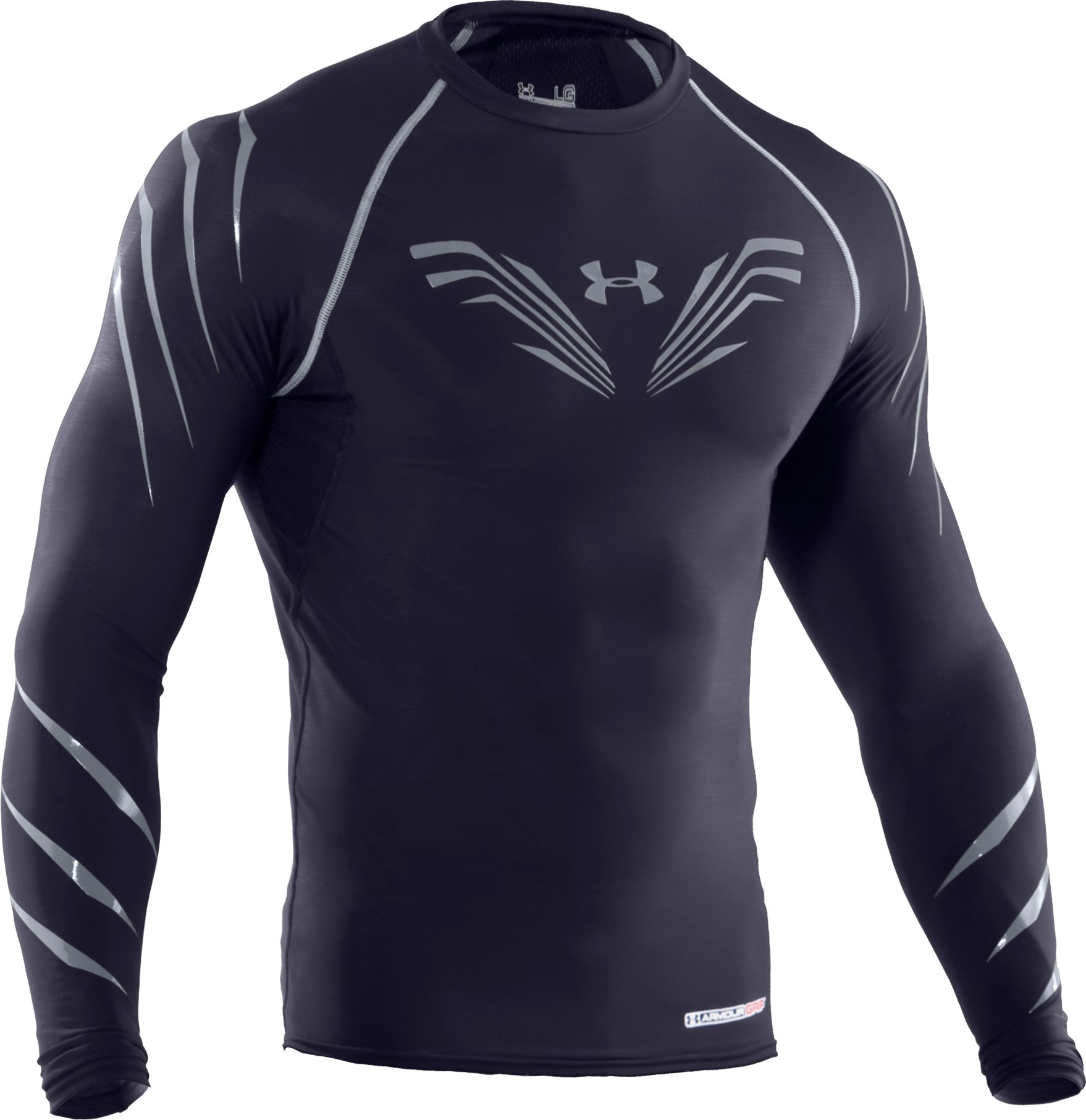 Men's Hockey Compression Grippy T-Shirt, Midnight Navy