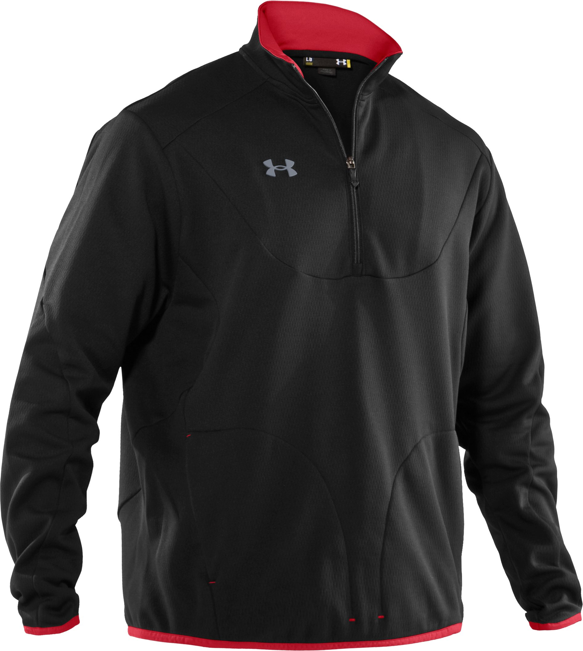 Men's Hockey ¼ Zip Microfleece, Black
