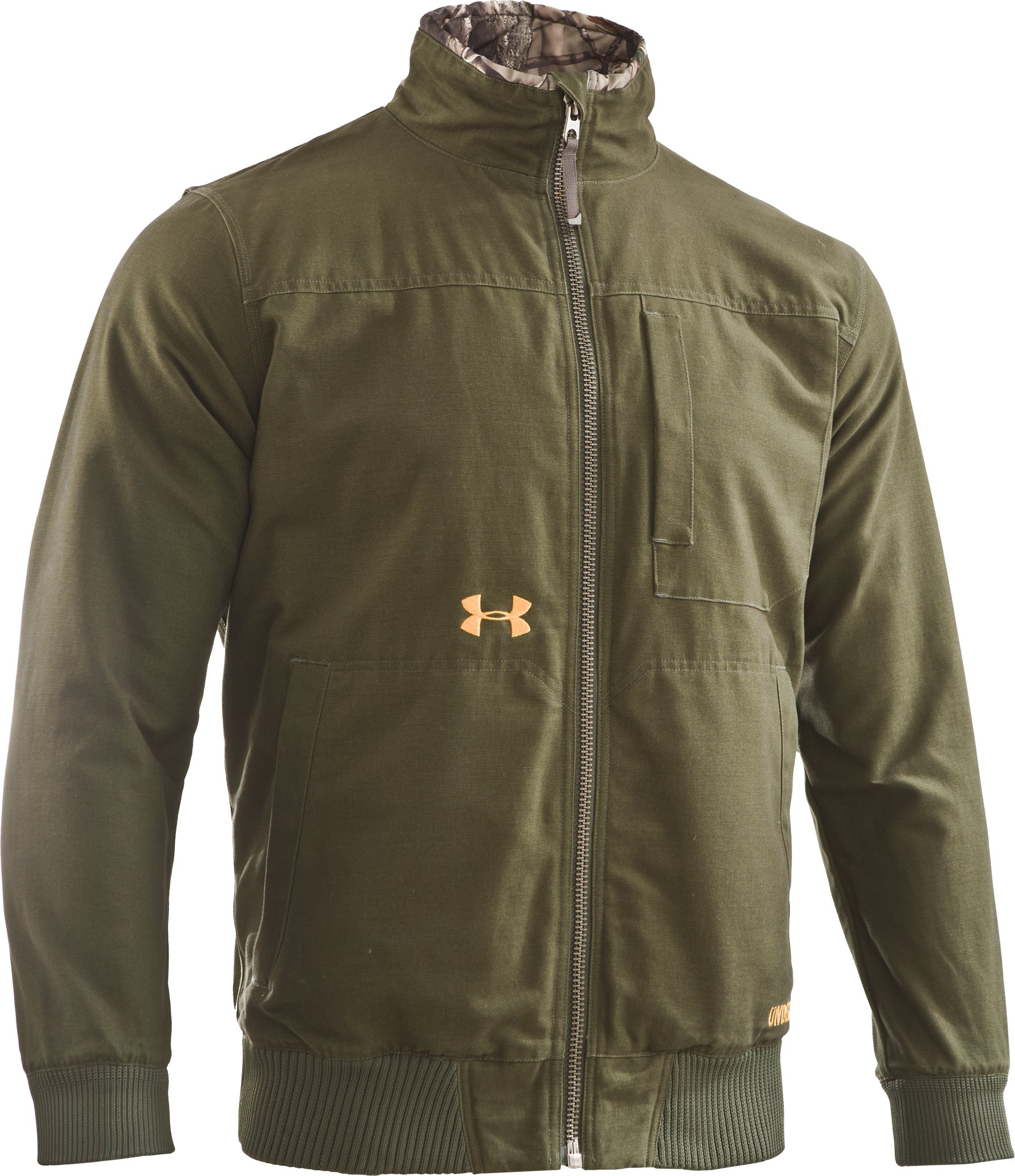 Men's Quilted Antler Logo Jacket, Rifle Green