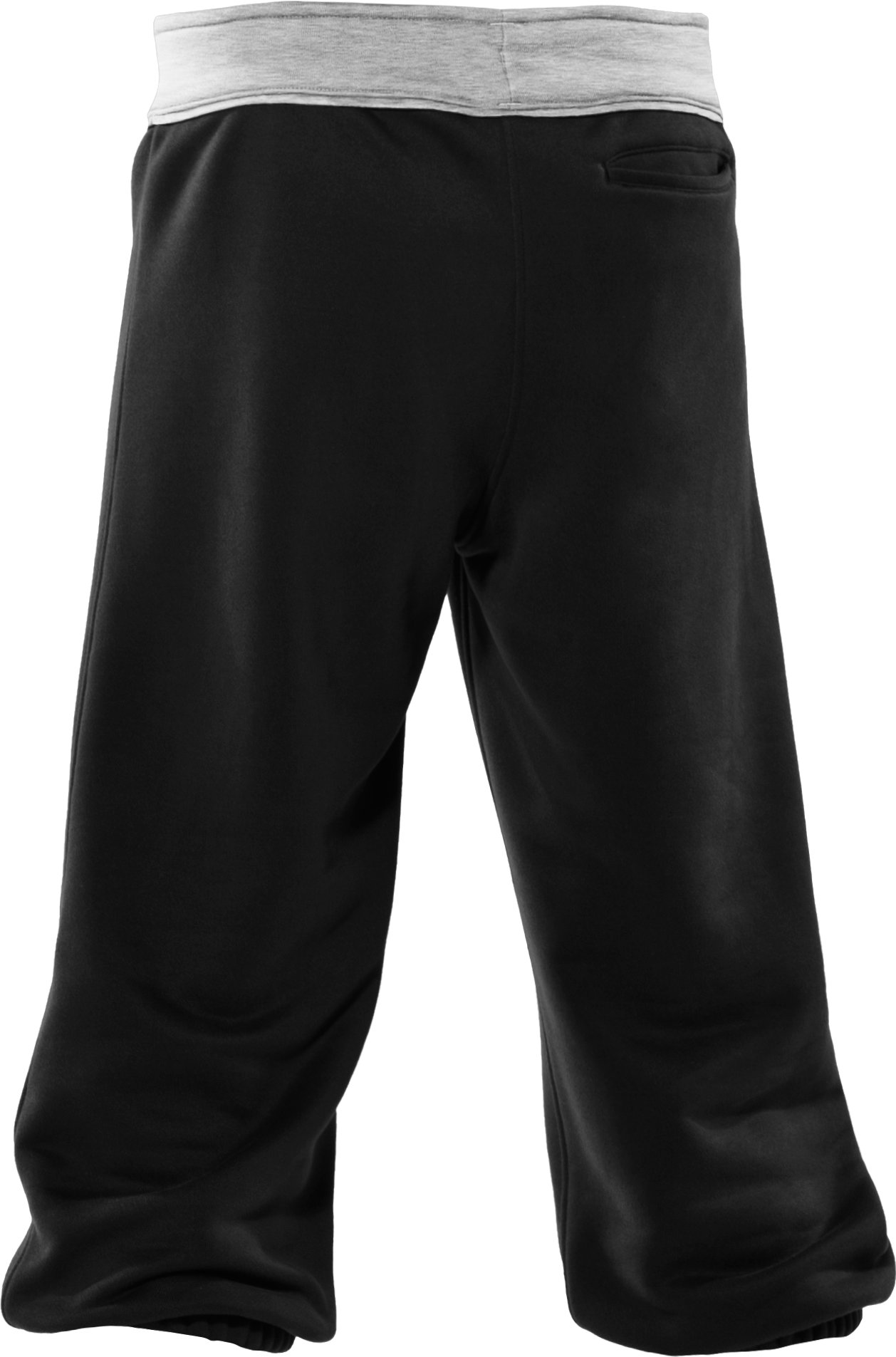 Girls' French Terry Capri Pants, Black , undefined