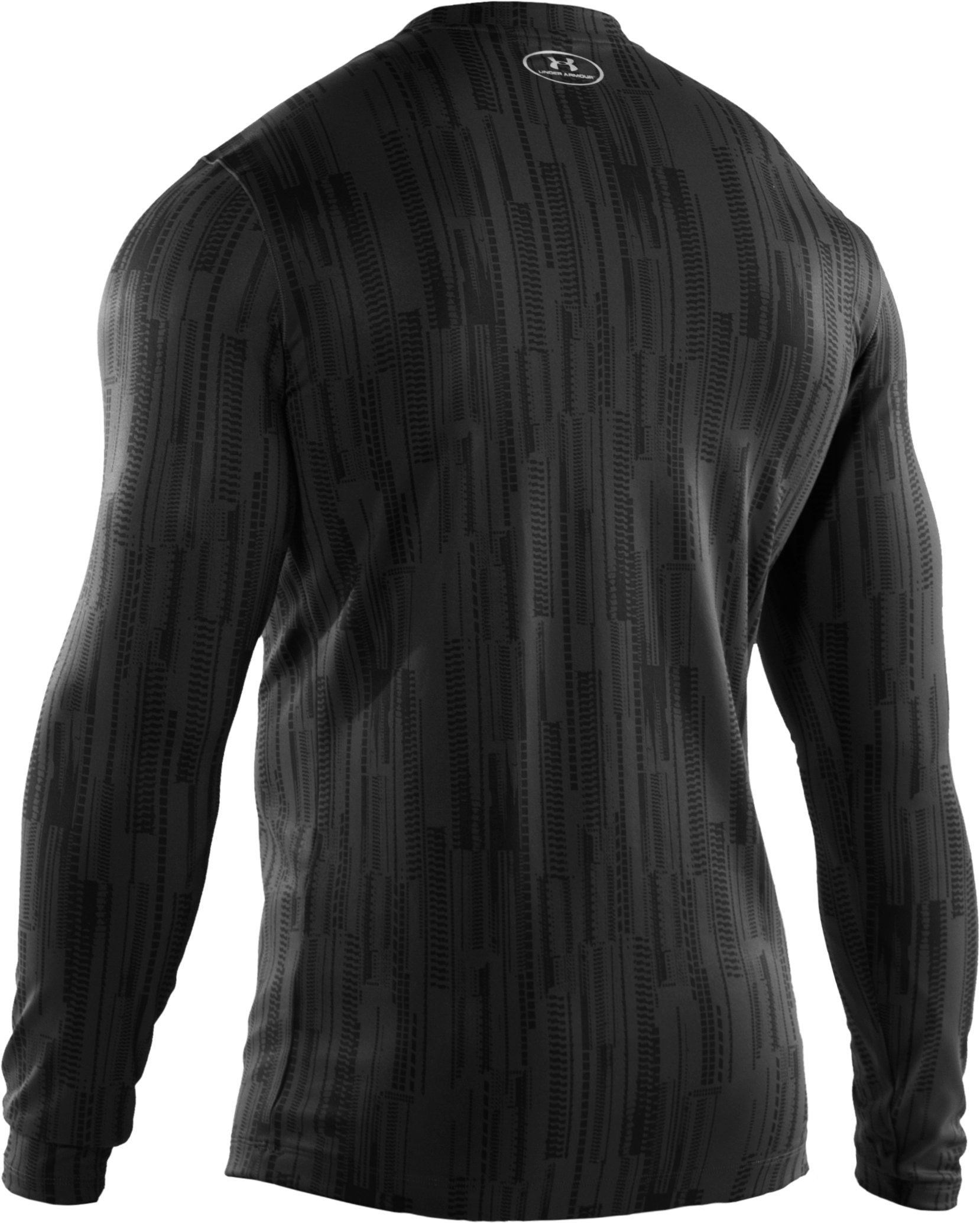 Men's ColdGear® Lux Fitted Long Sleeve Crew, Black ,