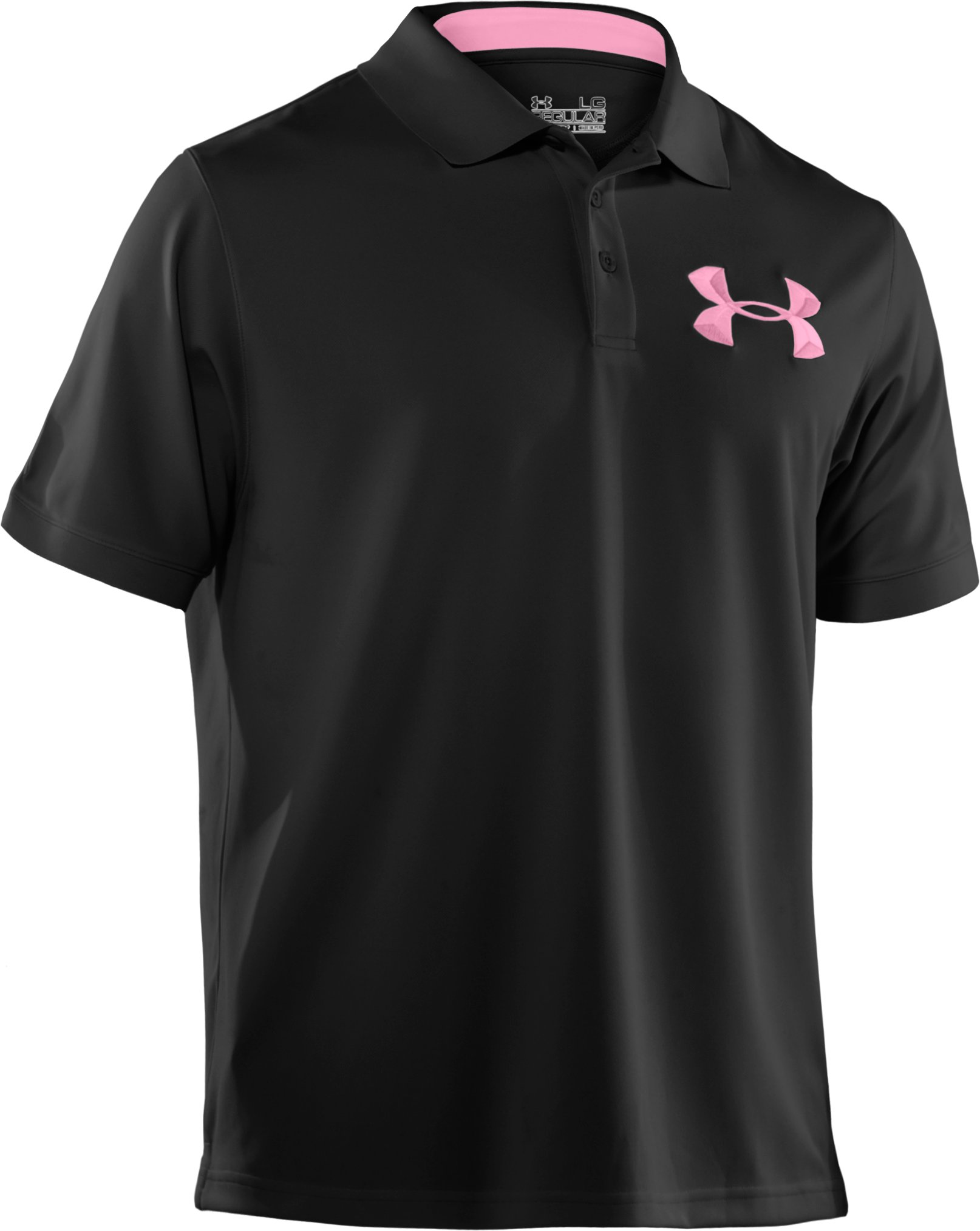 Power In Pink® UA Exploded Logo Polo Shirt, Black