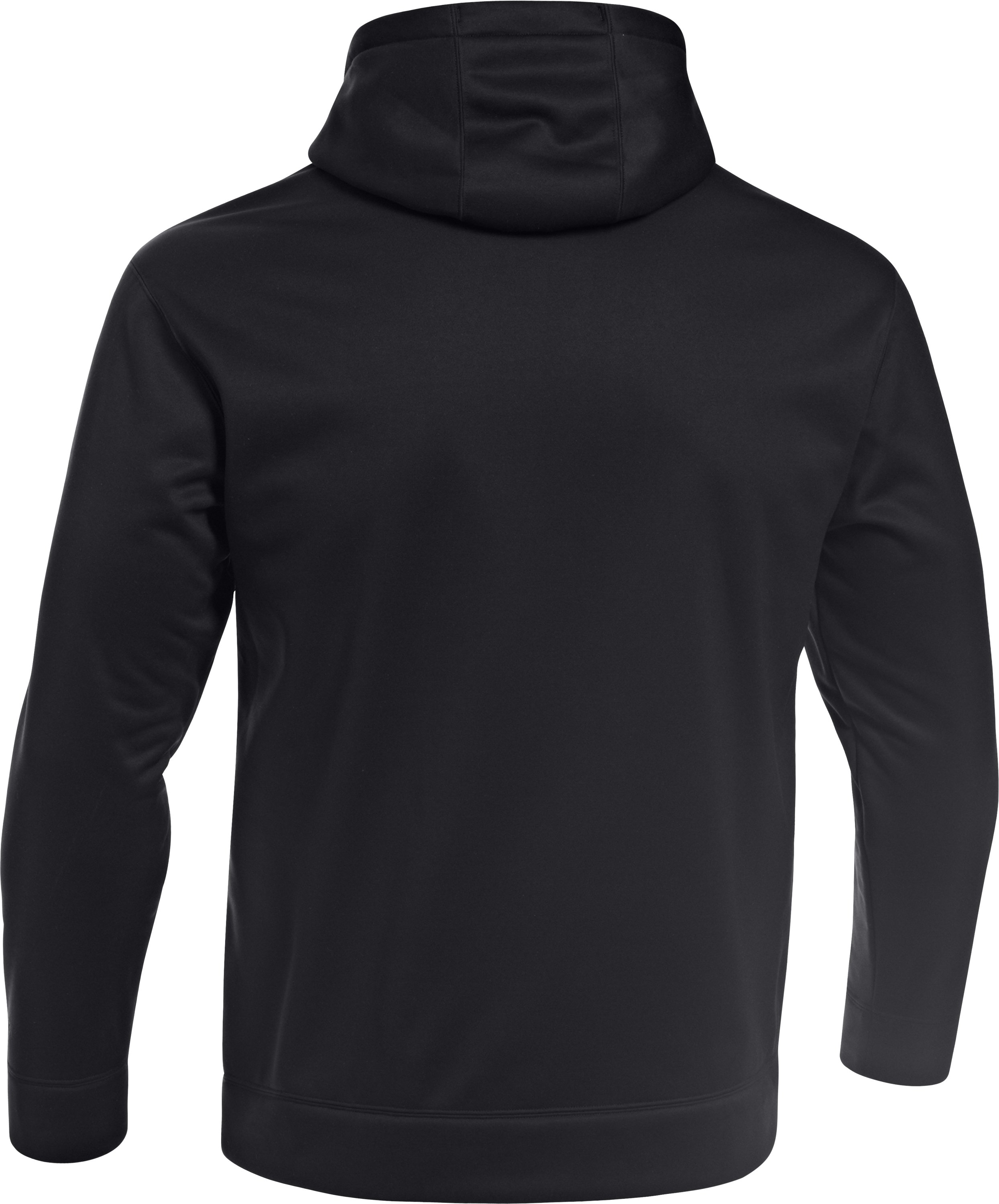 Men's UA Storm Armour® Fleece Solid Antler Hoodie, Black , undefined