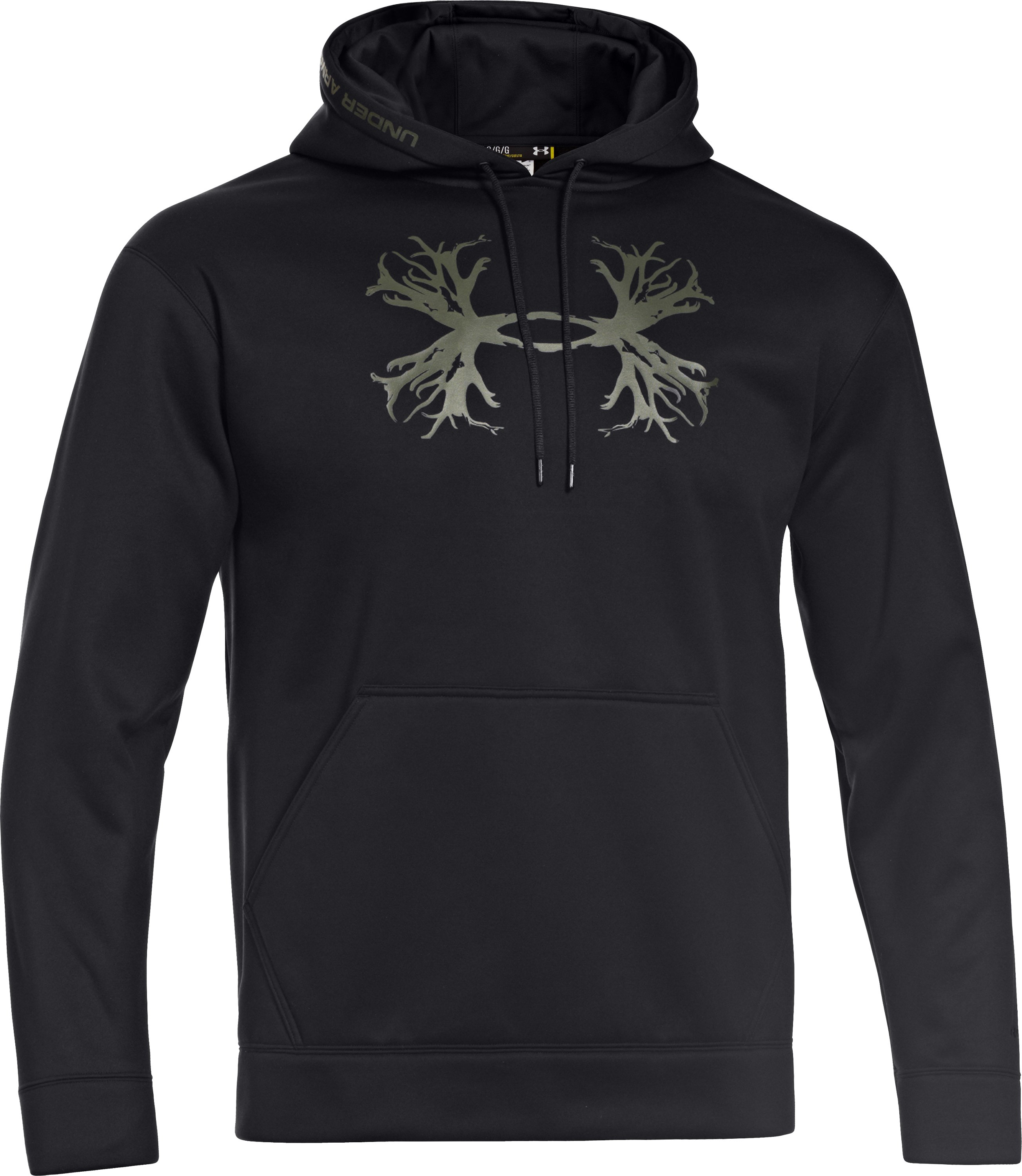 Men's UA Storm Armour® Fleece Solid Antler Hoodie, Black