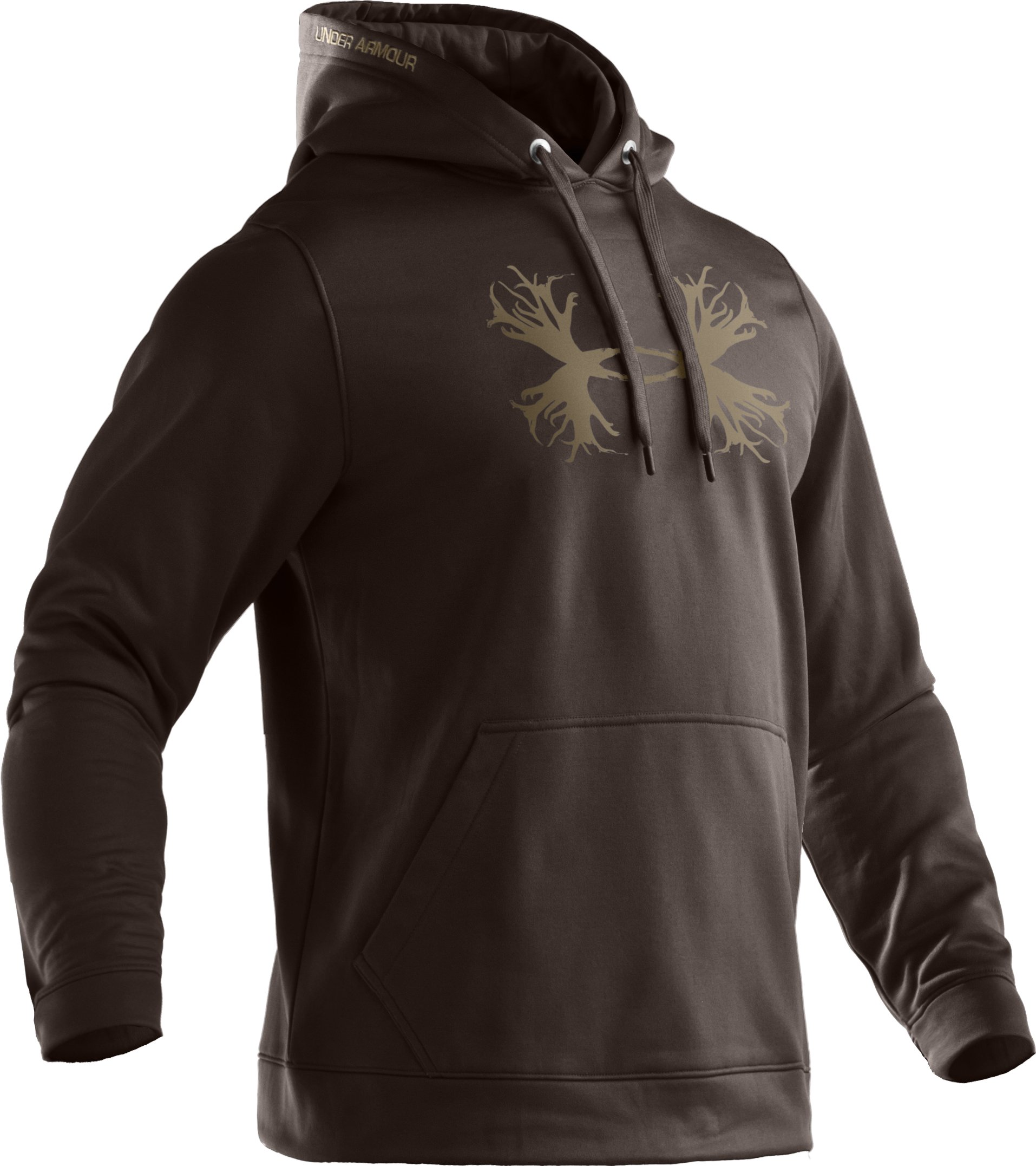 Men's Armour Fleece® Storm Solid Antler Hoodie, Bureau, undefined