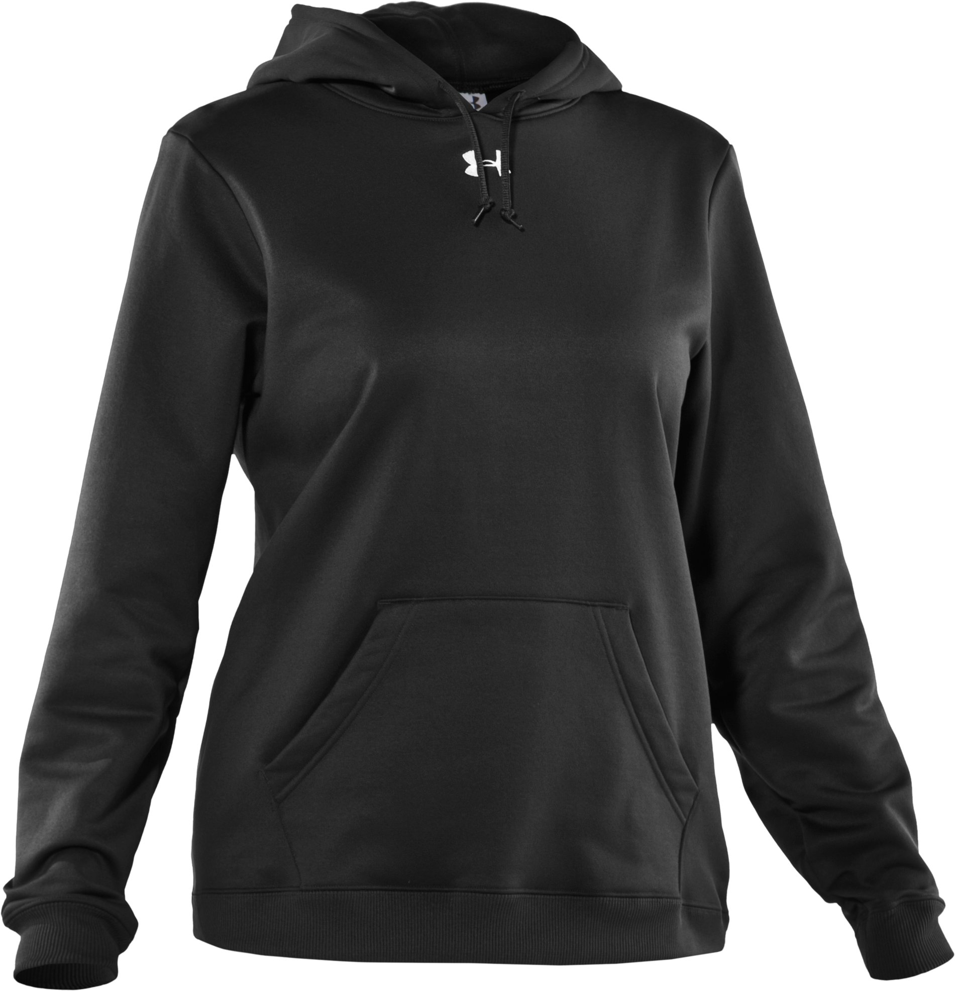 Women's Armour® Fleece Team Hoodie, Black