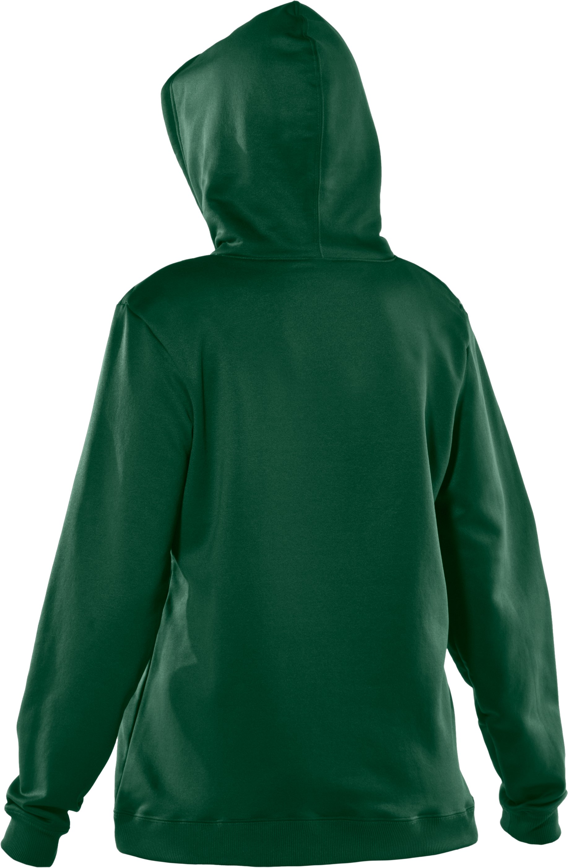 Women's  Armour Fleece® Team Hoodie, Forest Green, undefined