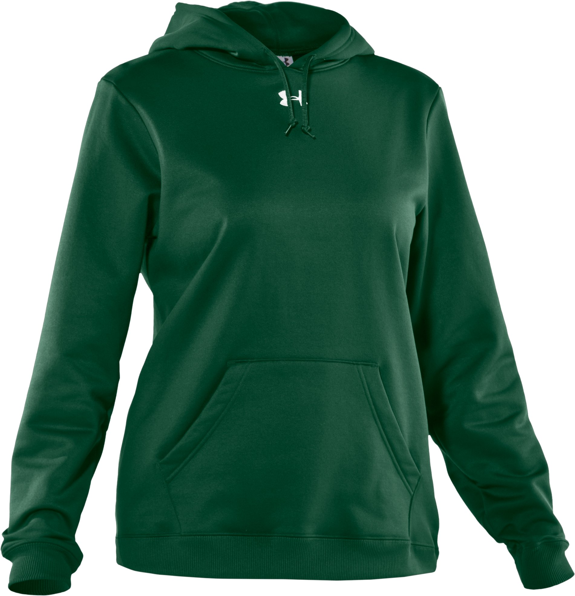Women's Armour® Fleece Team Hoodie, Forest Green