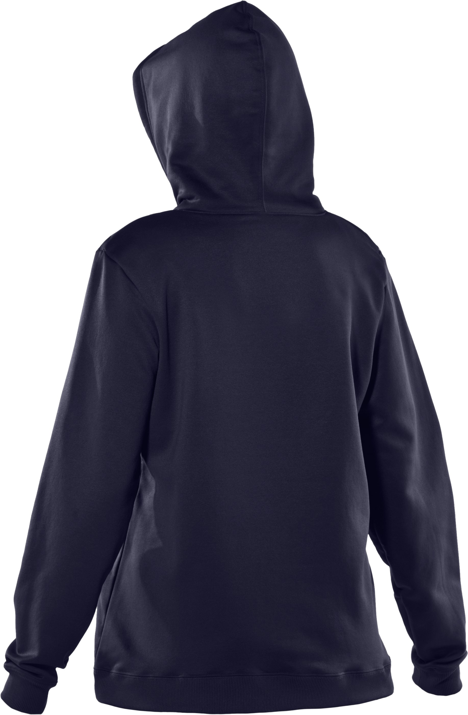 Women's Armour® Fleece Team Hoodie, Midnight Navy, undefined