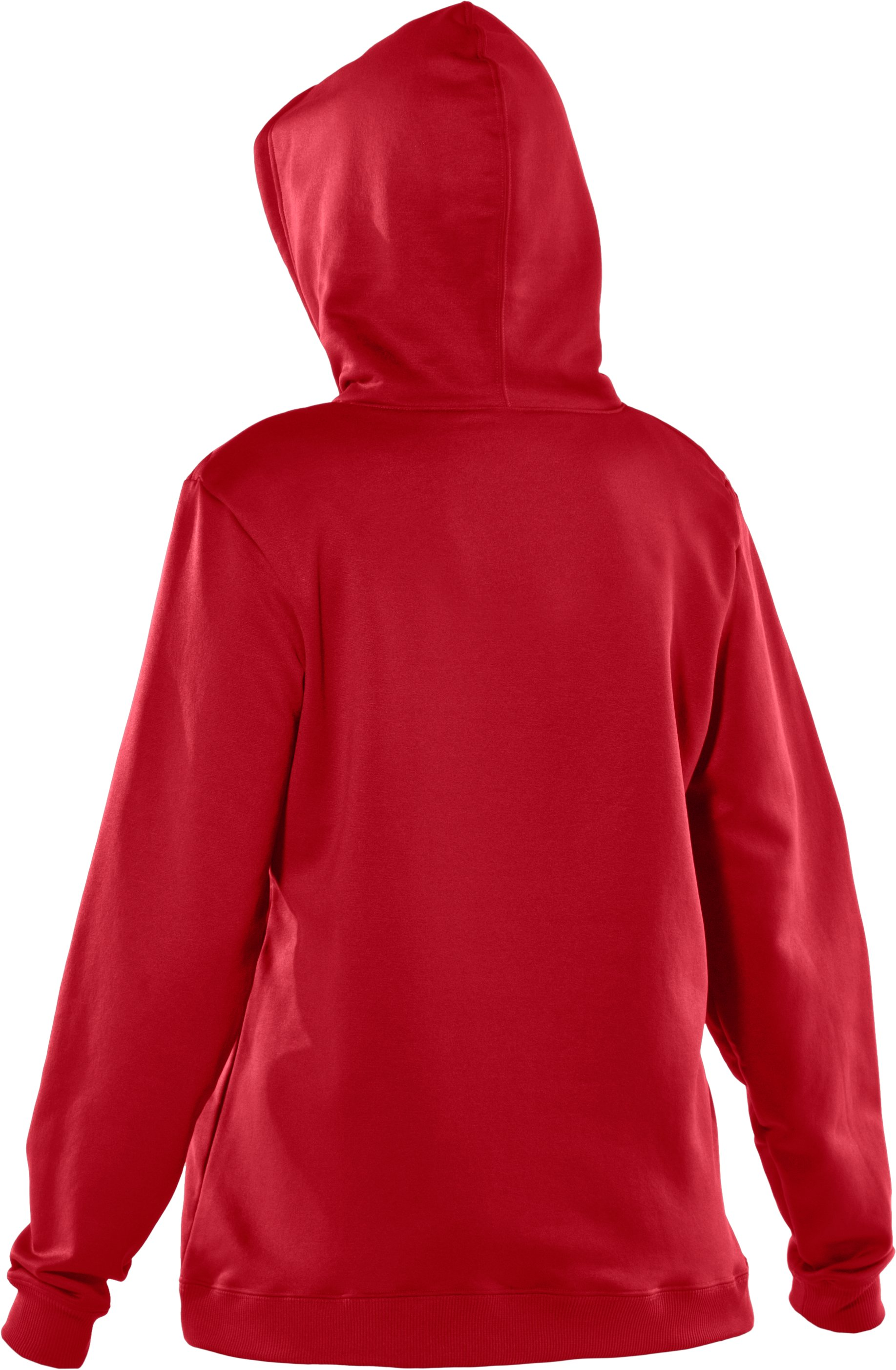 Women's Armour® Fleece Team Hoodie, Red
