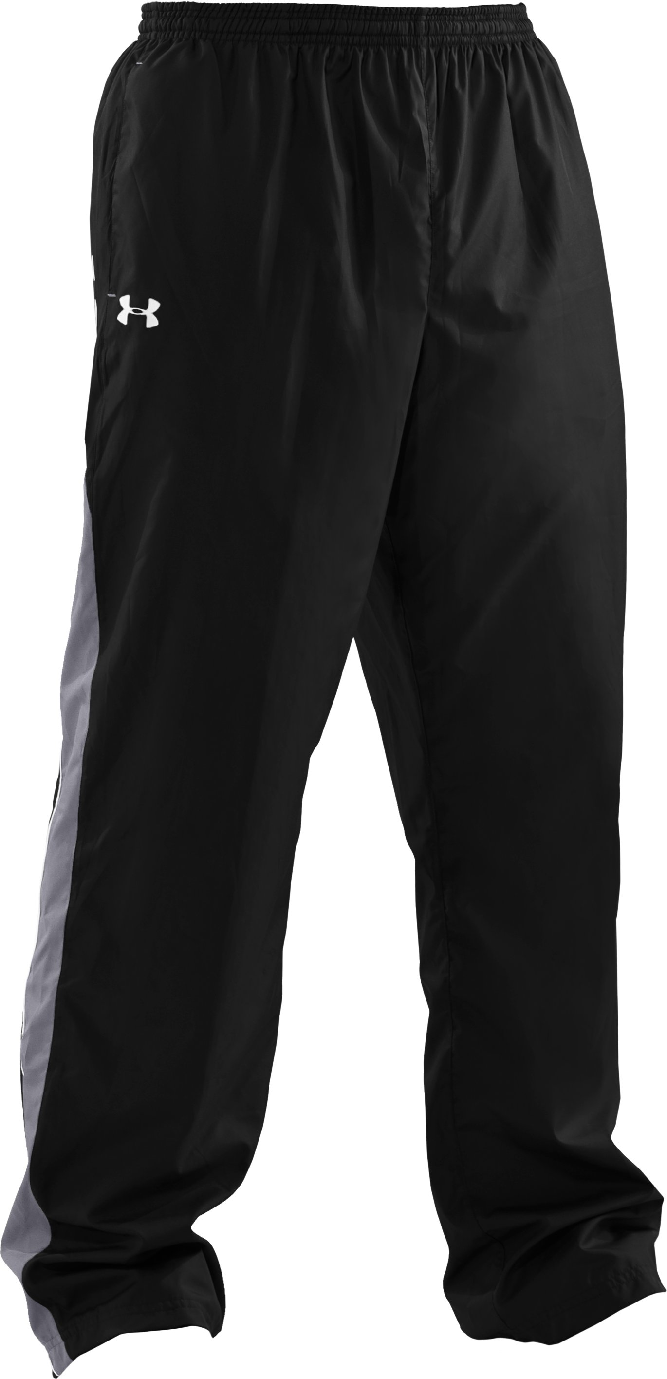 Men's UA Attack Woven Warm-Up Pants, Black