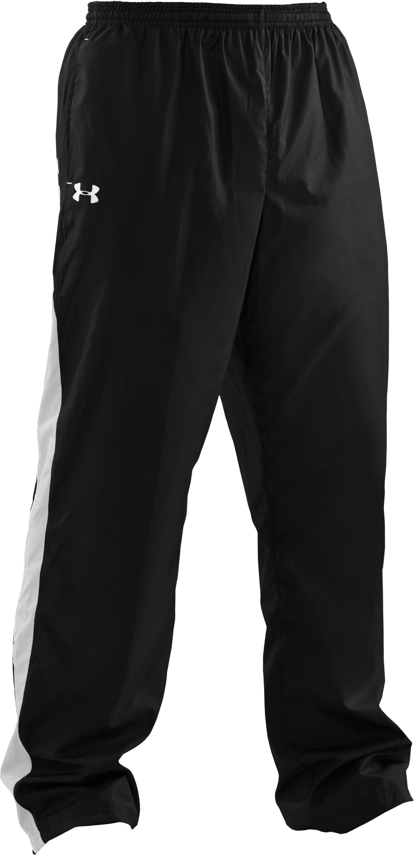 Men's UA Attack Woven Warm-Up Pants, Black , undefined