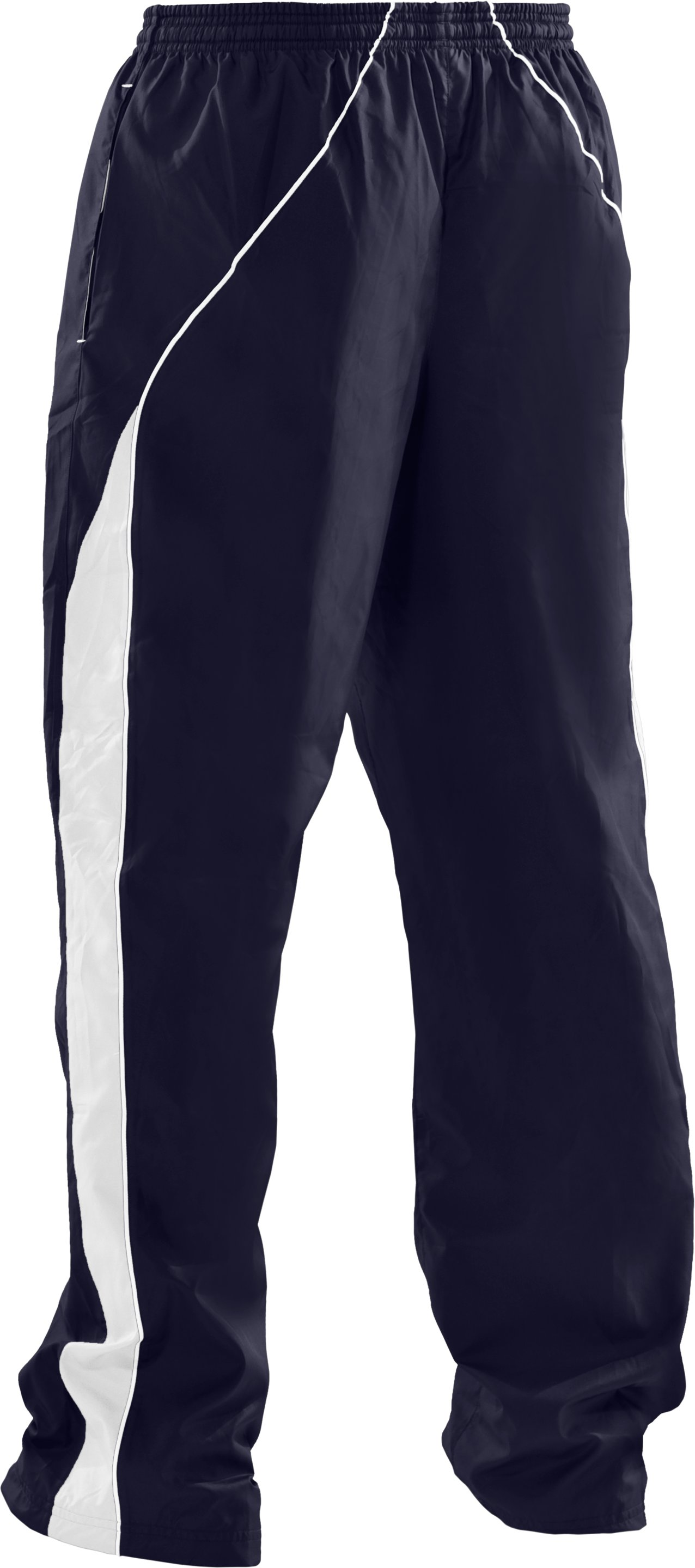 Men's UA Attack Woven Warm-Up Pants, Midnight Navy,