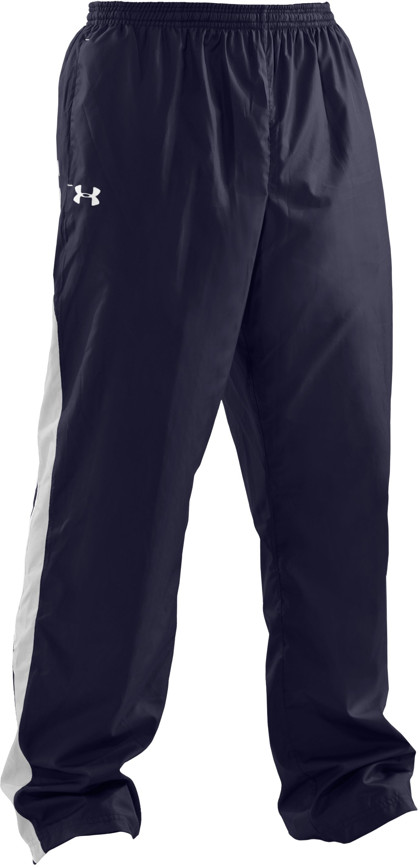 Men's UA Attack Woven Warm-Up Pants, Midnight Navy