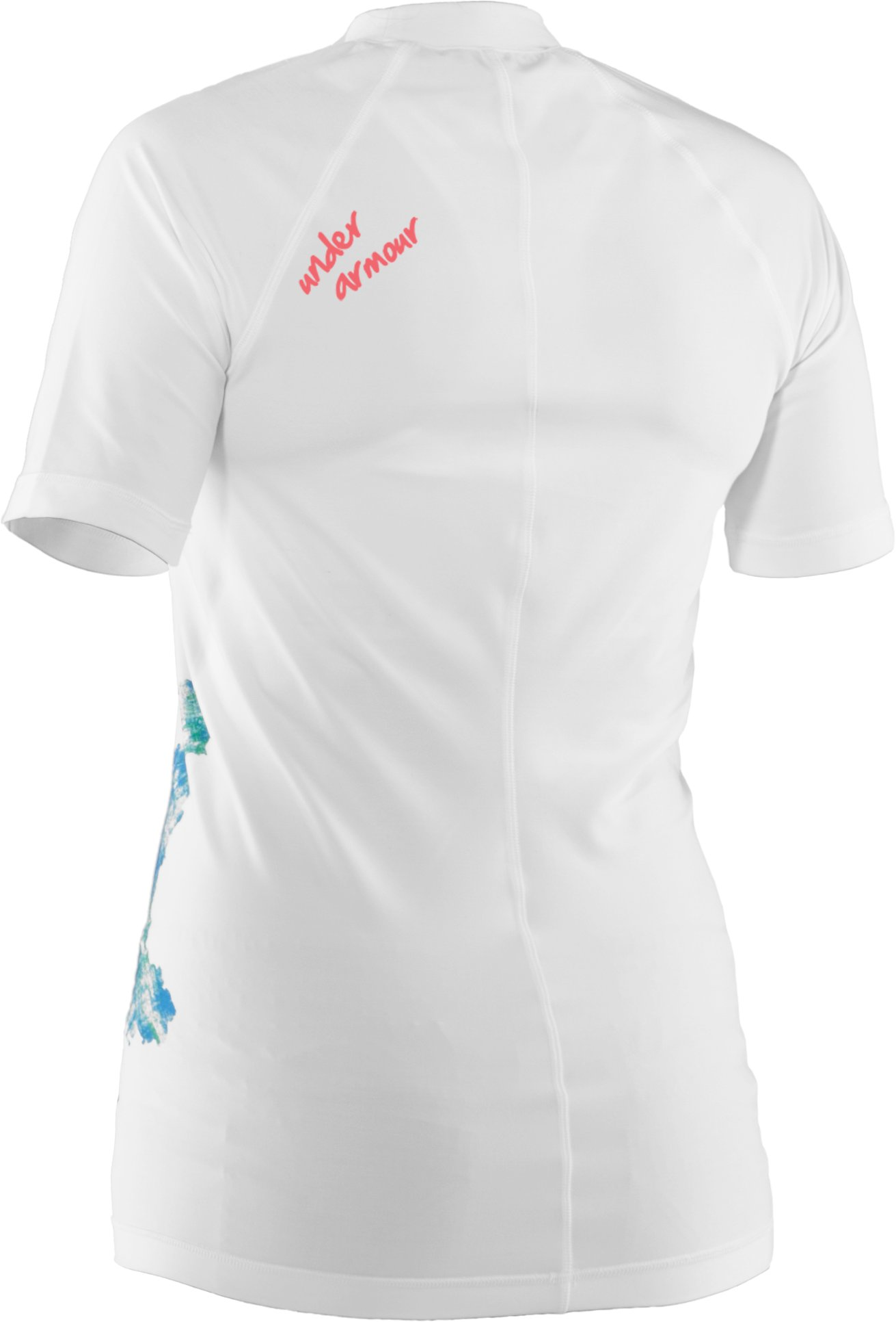 Women's UA Gusta Rash Guard, White,