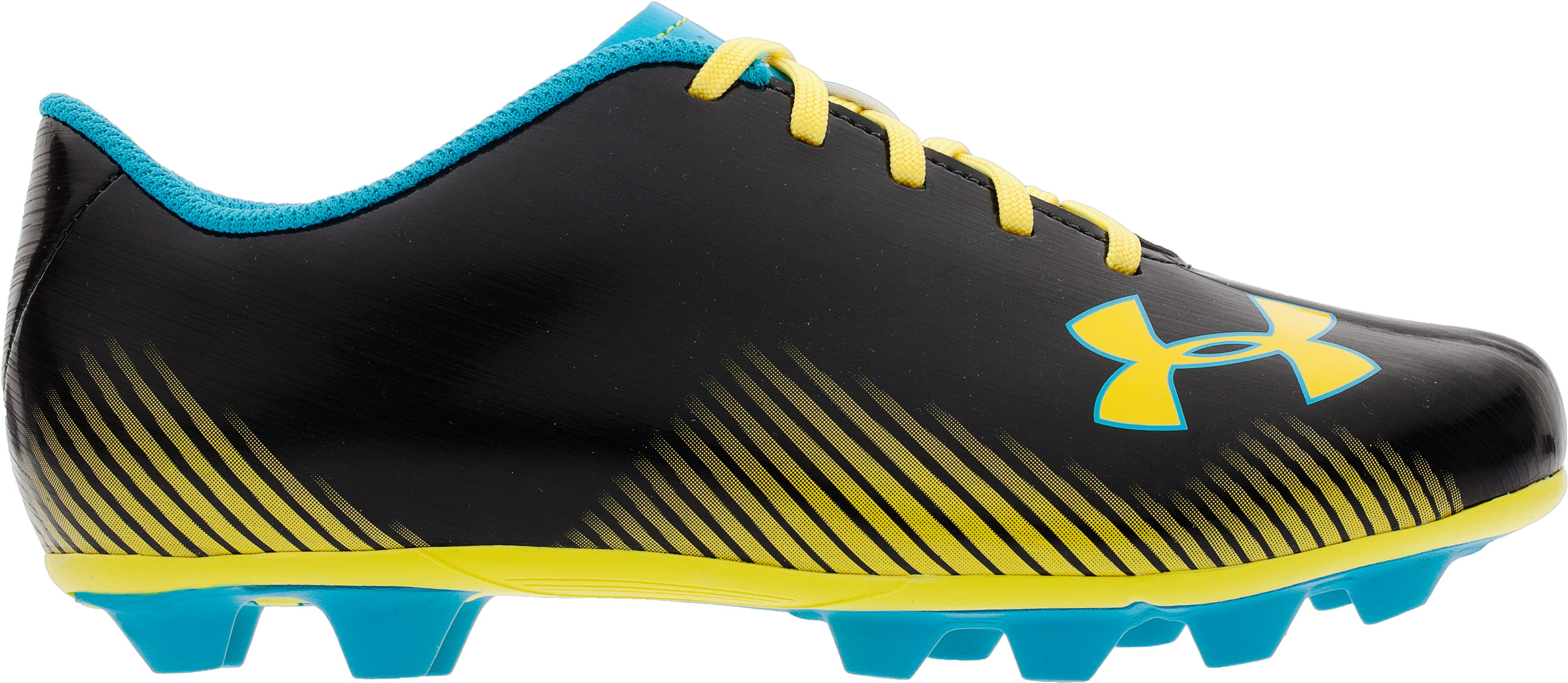 Youth UA Blur II HG Cleats, Black , zoomed image