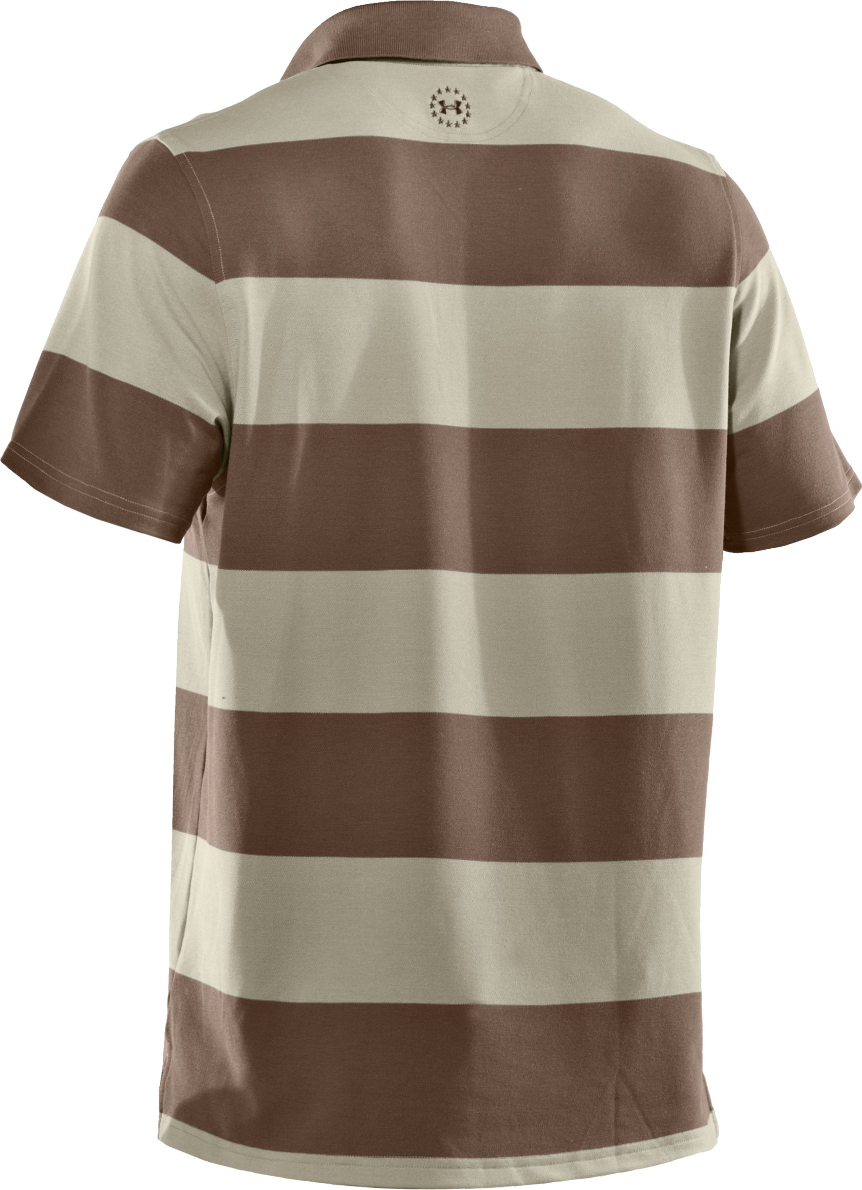 Men's WWP Stripe Polo, Desert Sand