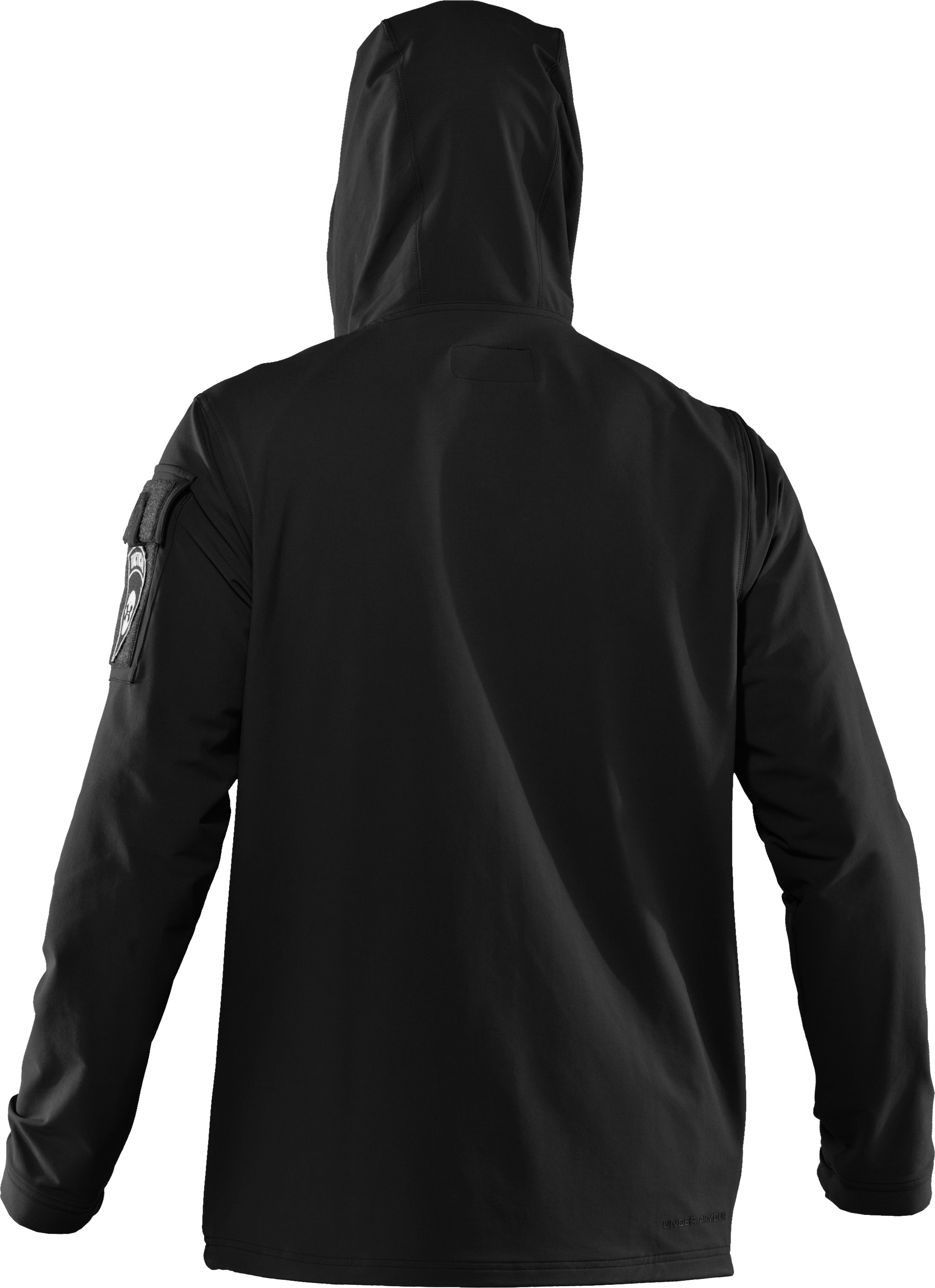 Men's UA Tactical Softshell Jacket, Black , undefined