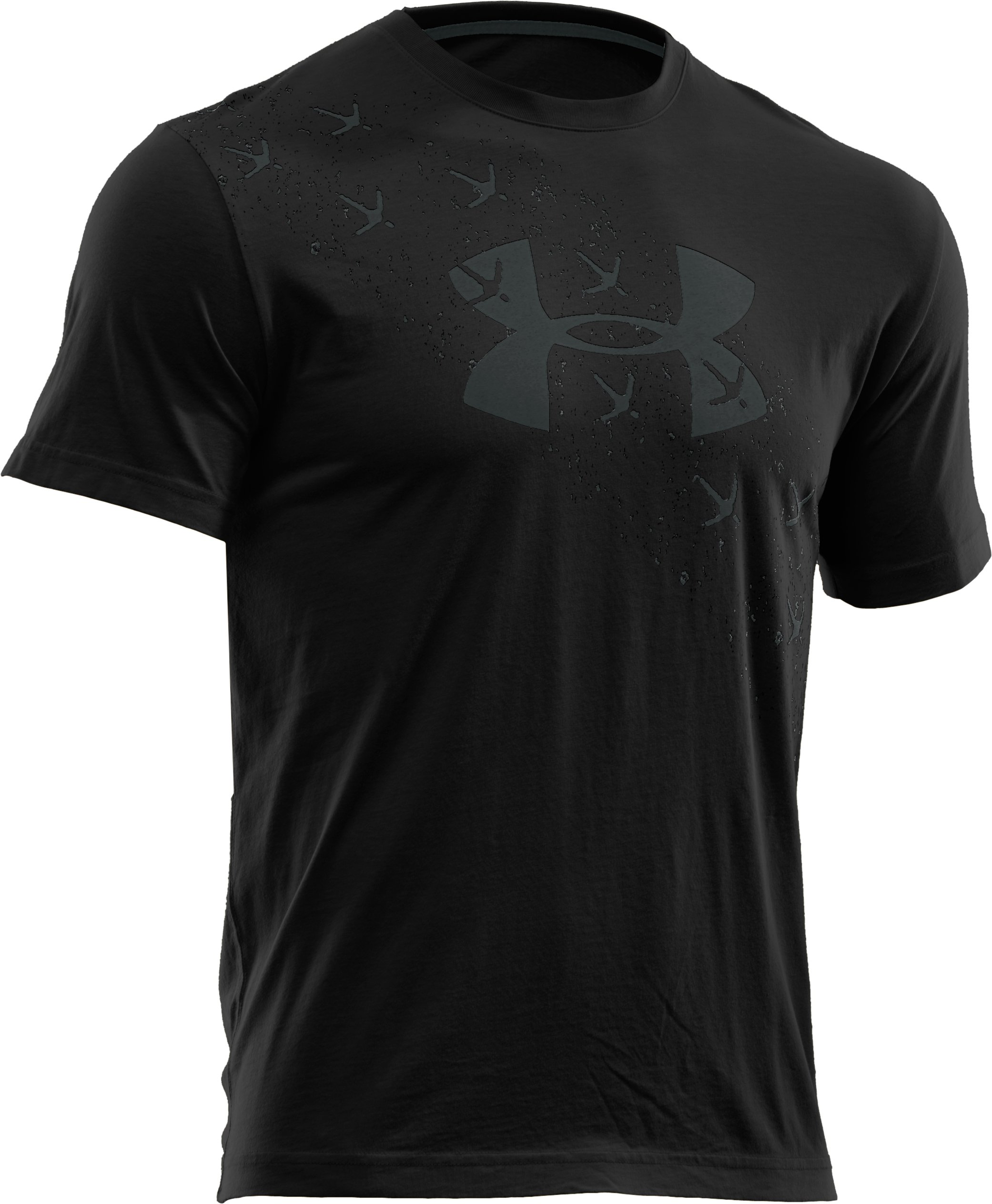 Men's UA Turkey Trax T-Shirt, Black , undefined