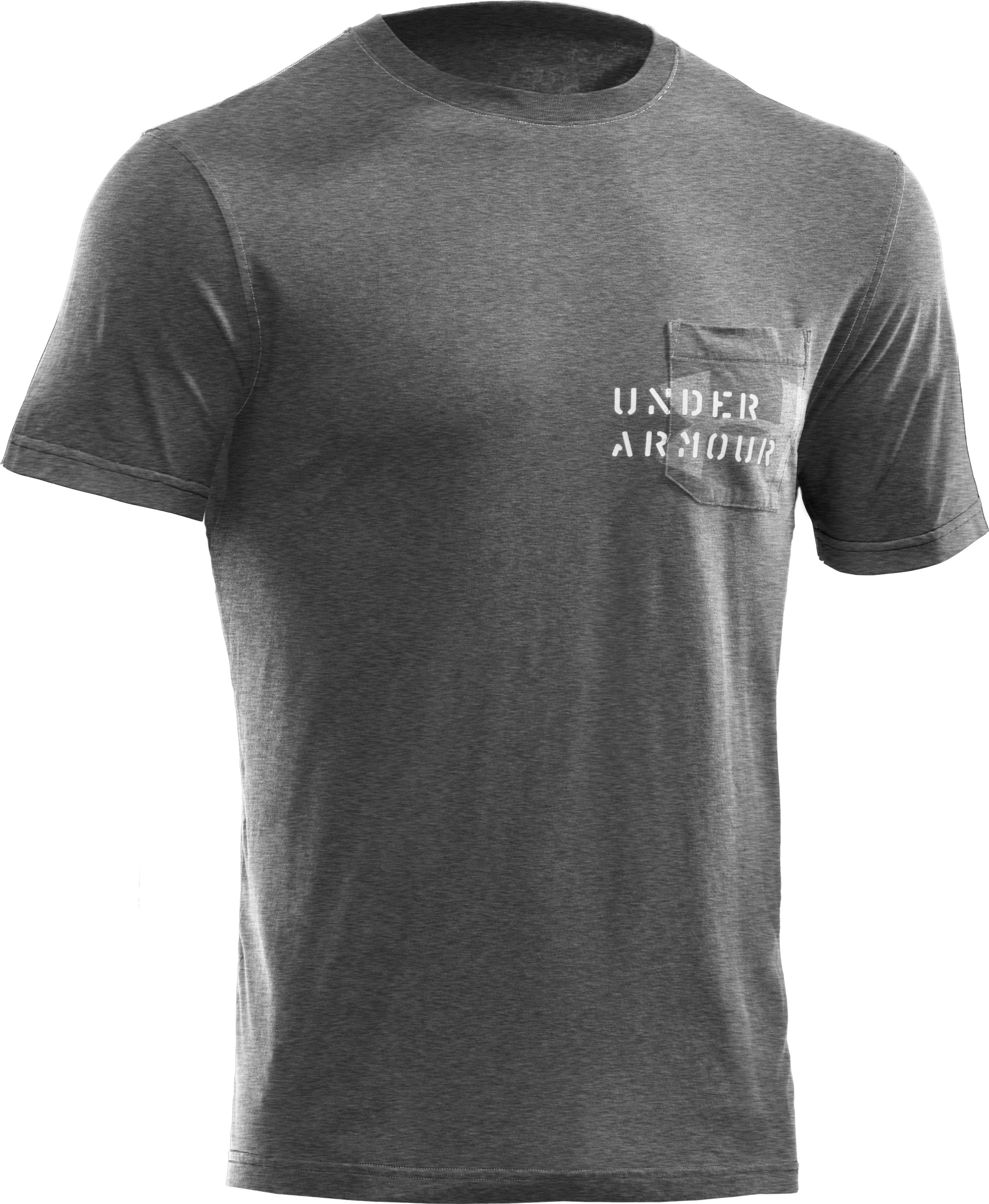 Men's Charged Cotton® Pocket T-Shirt, True Gray Heather, undefined