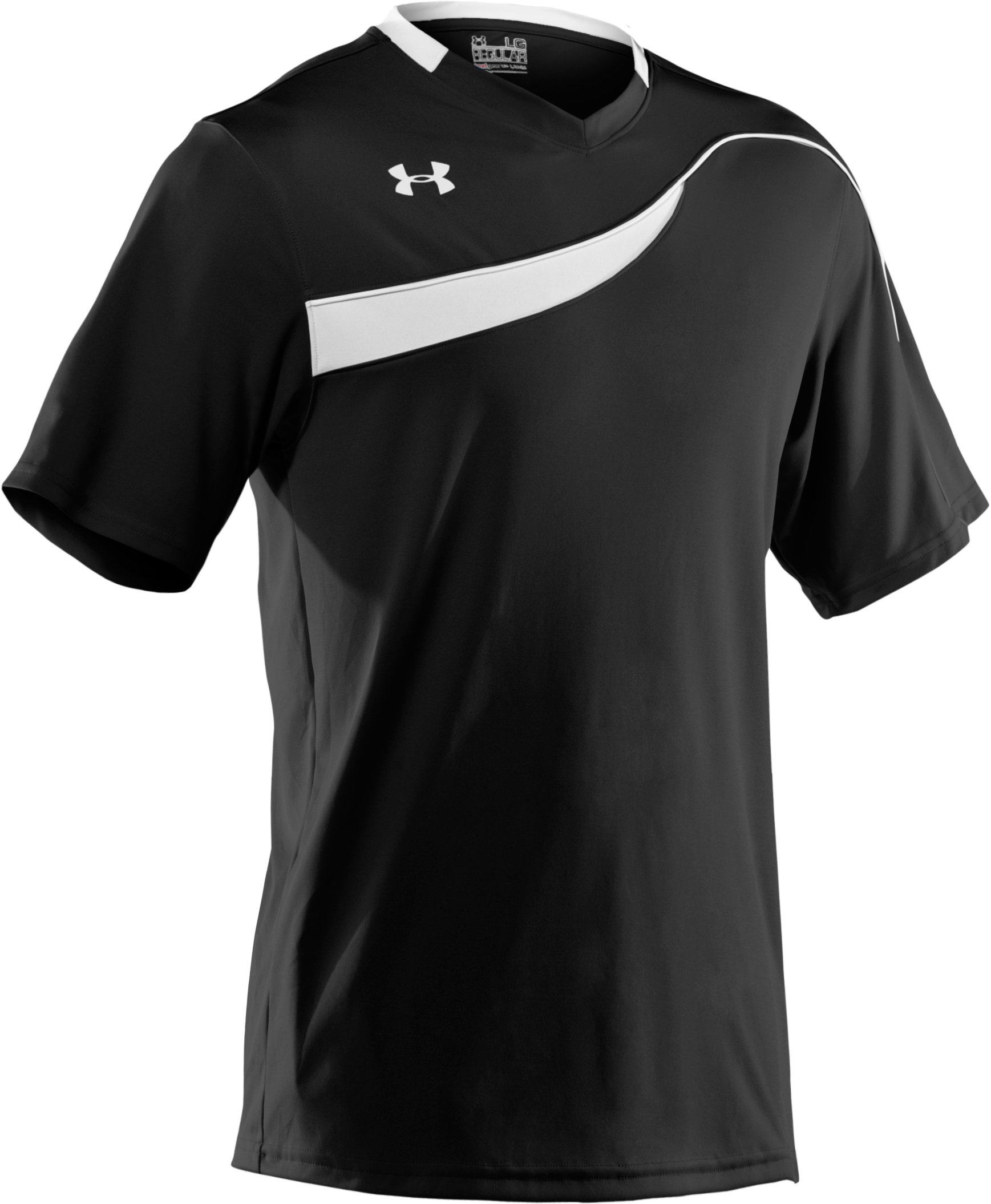 Men's UA Chaos Short Sleeve Soccer Jersey, Black , undefined