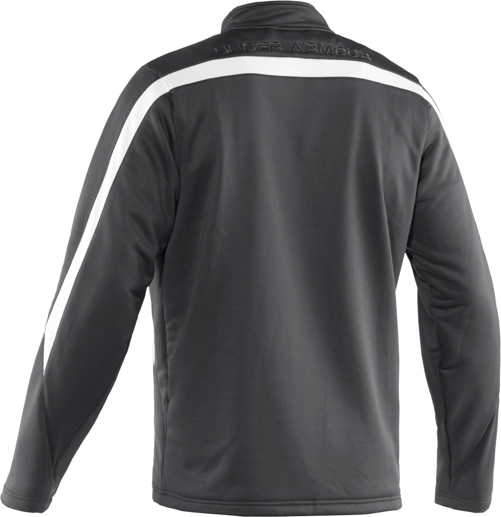 Men's UA Classic Knit Warm-Up Jacket, Graphite, undefined