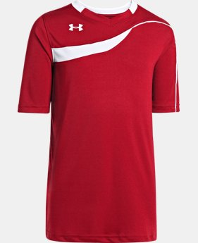 Boys' UA Chaos Short Sleeve Soccer Jersey  1 Color $22.99