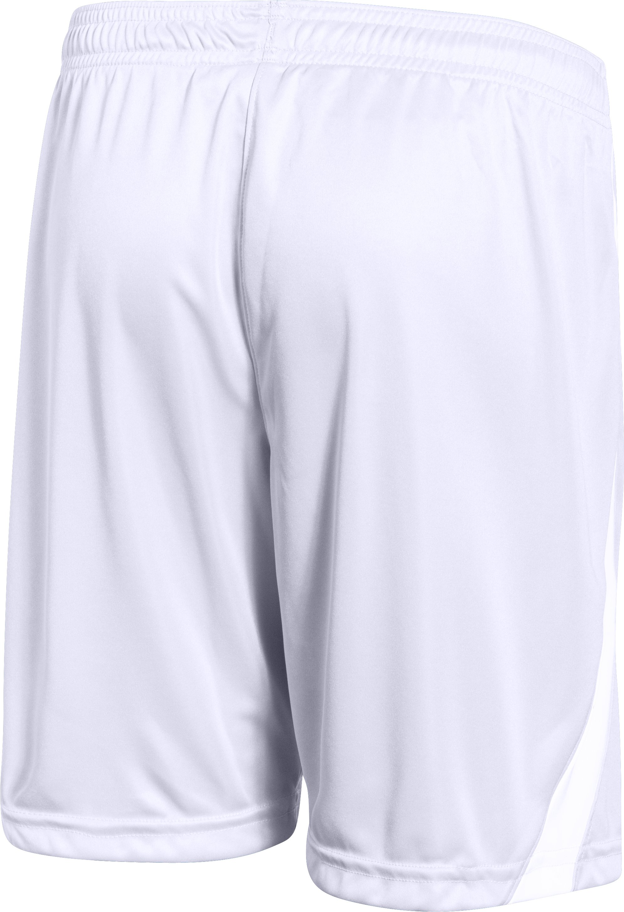 "Boys' UA Chaos 7"" Soccer Shorts, White, undefined"