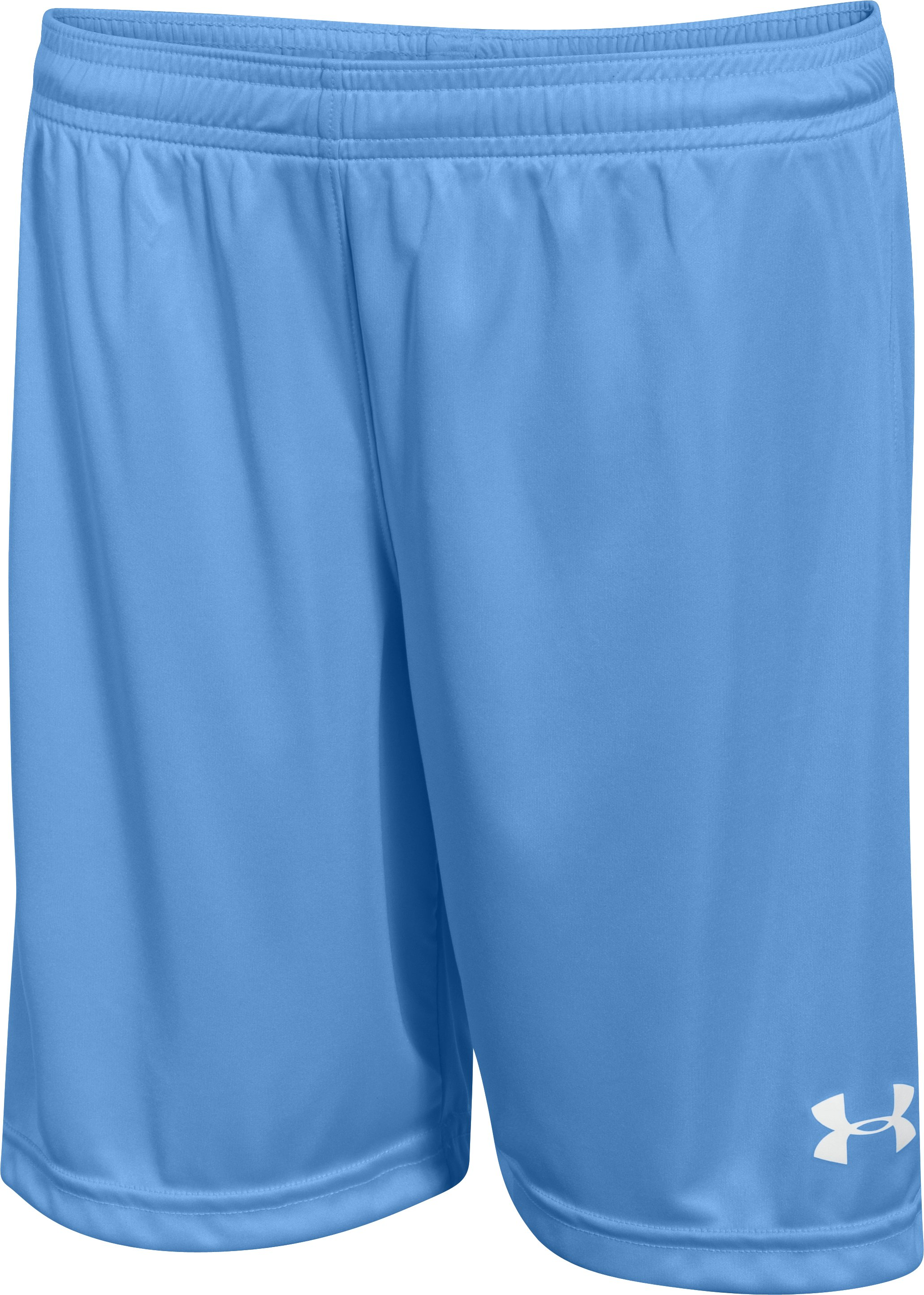 "Boys' UA Chaos 7"" Soccer Shorts, Carolina Blue,"