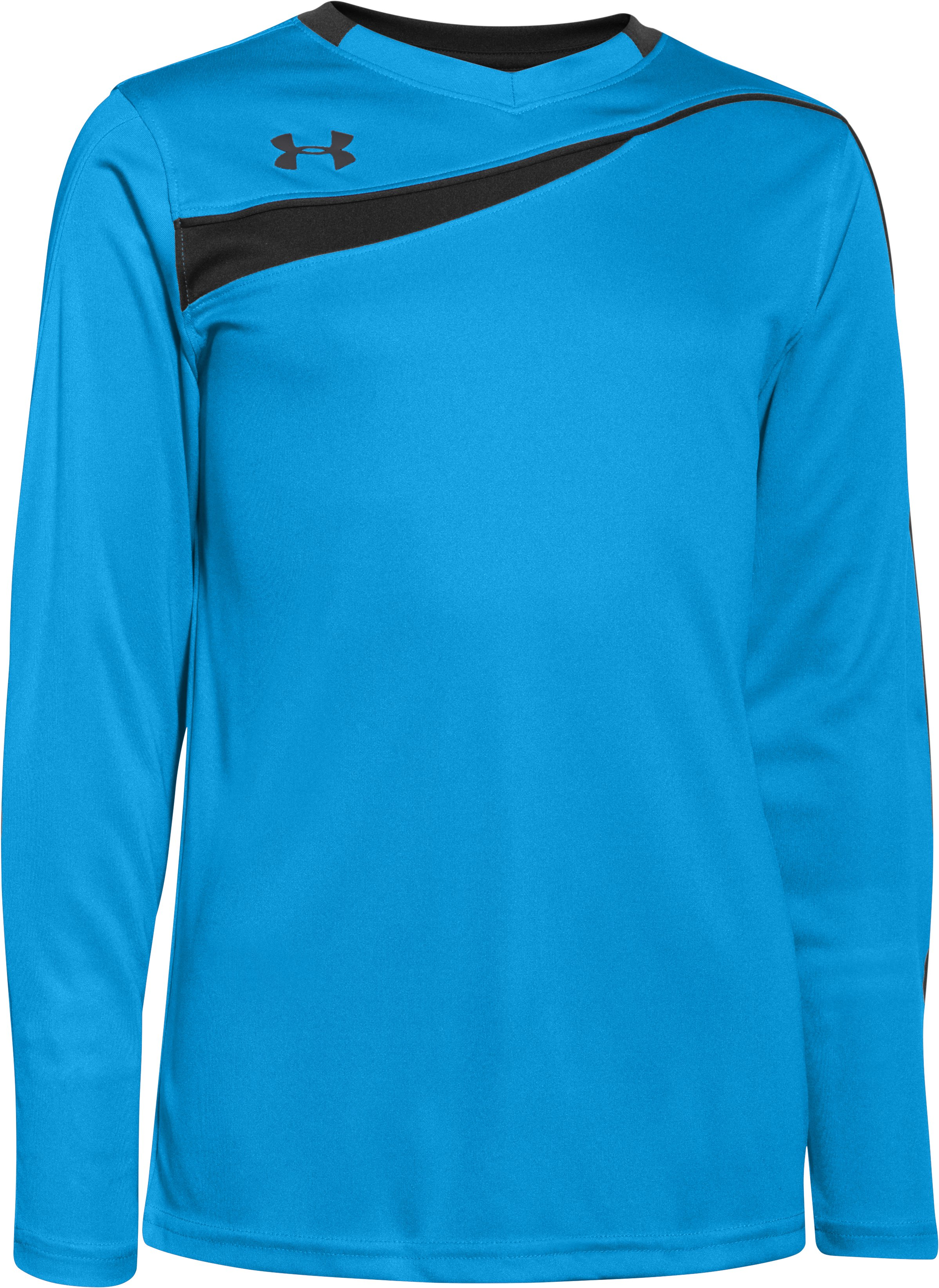 Boys' UA Horizontal Goalkeeper Jersey, Capri,