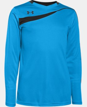 Boys' UA Horizontal Goalkeeper Jersey LIMITED TIME: FREE SHIPPING 1 Color $34.99
