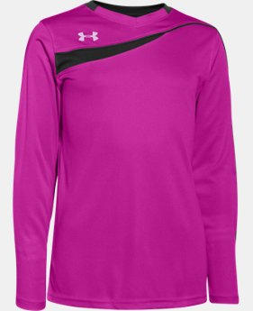 Boys' UA Horizontal Goalkeeper Jersey  1 Color $26.99
