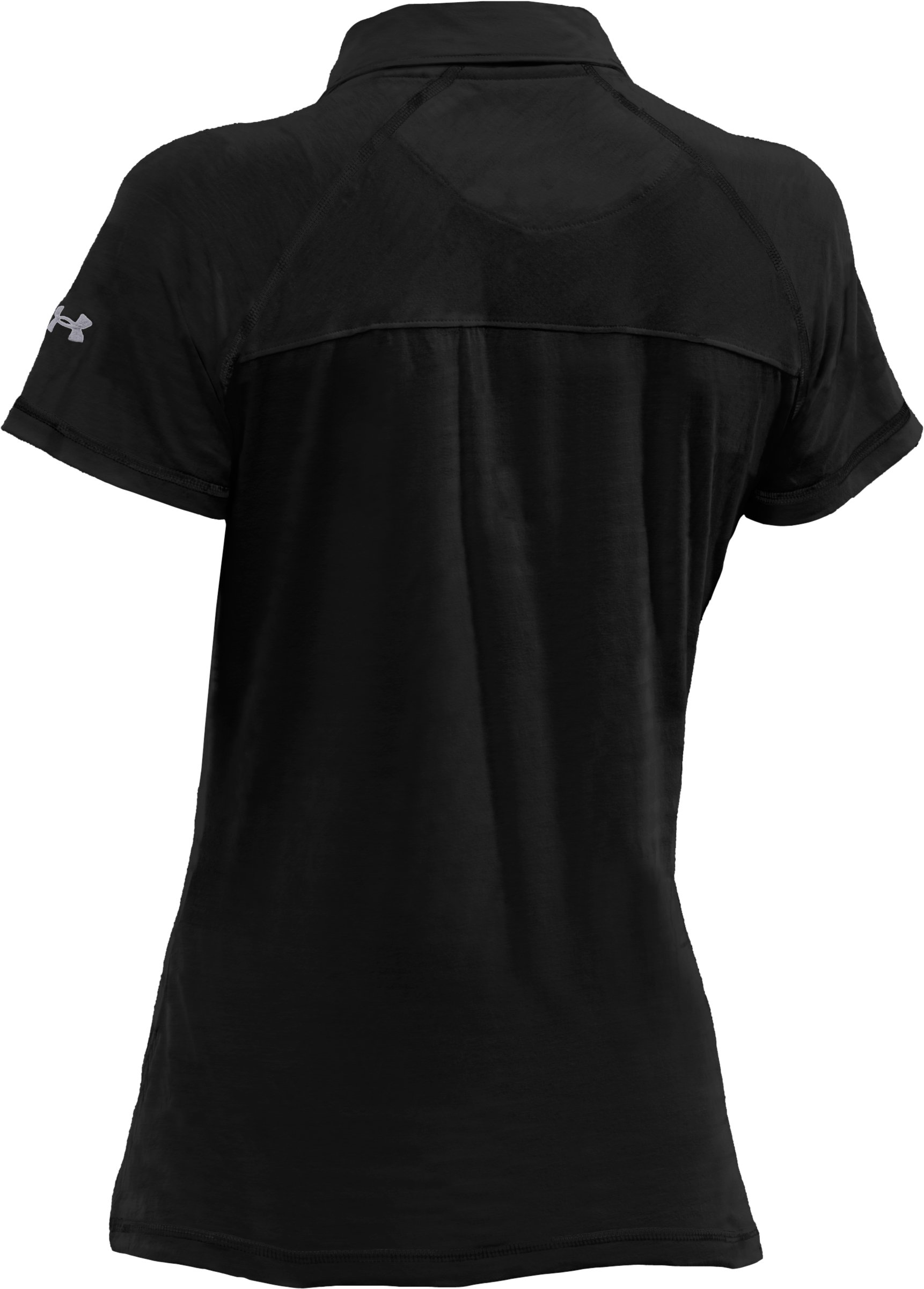Women's UA T-Shirt Polo, Black , undefined