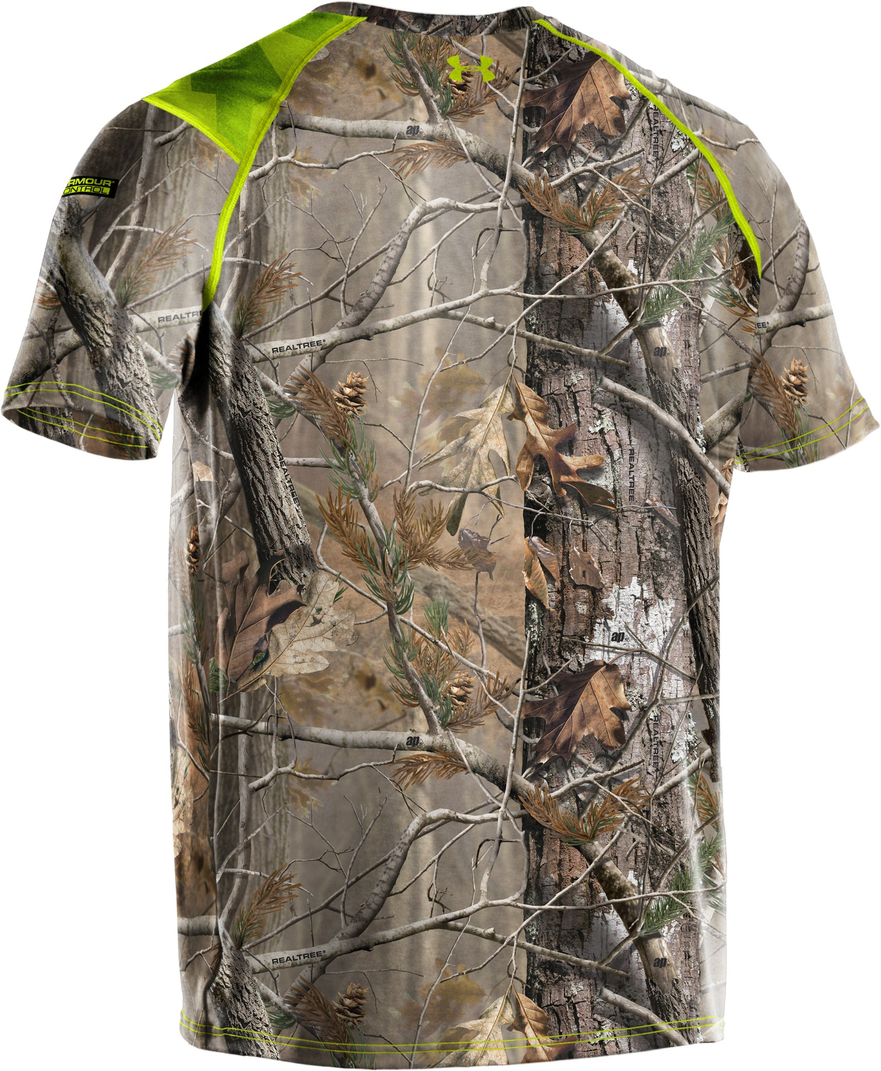 Men's UA Scent Control HeatGear® Short Sleeve, Realtree AP