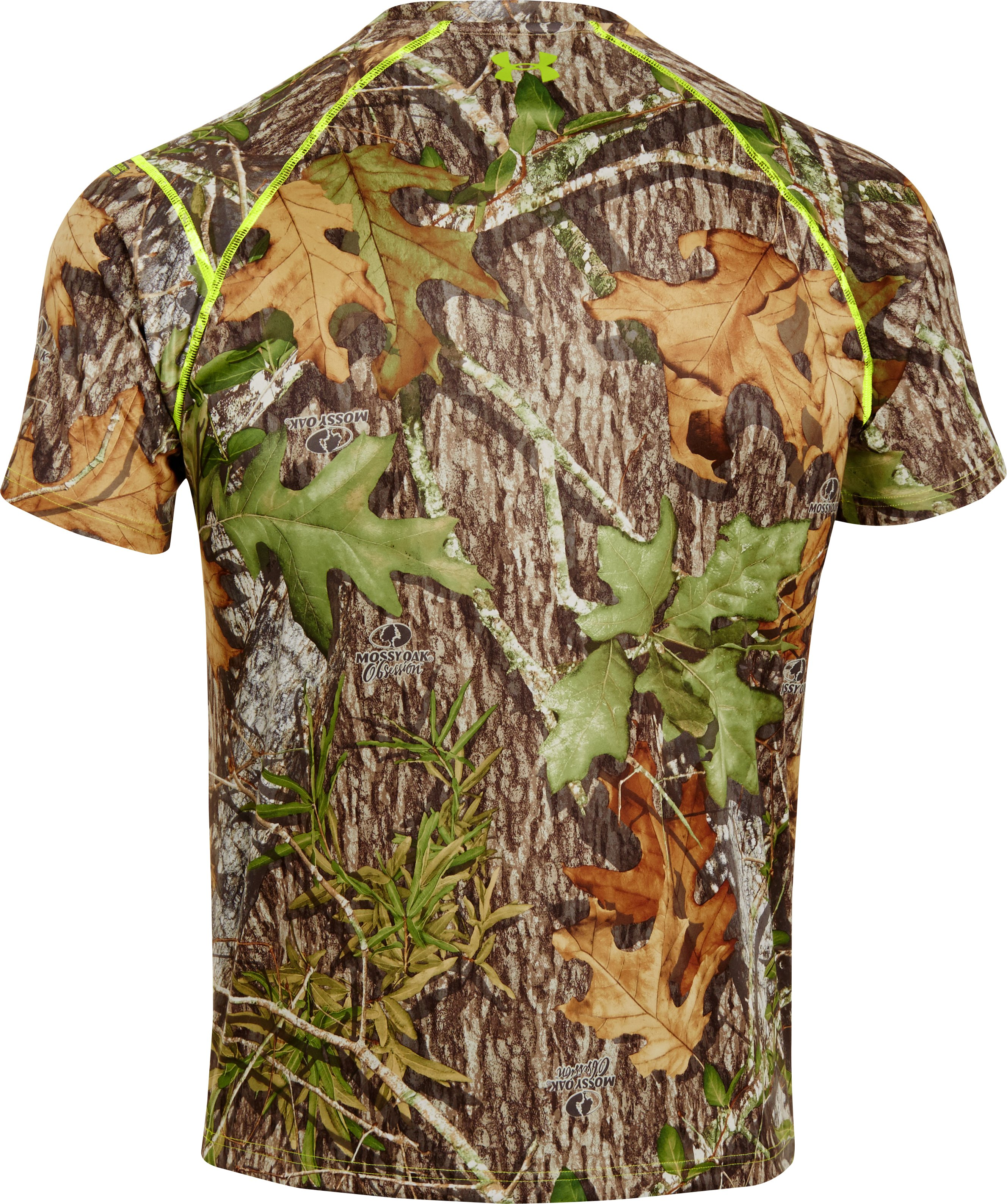 Men's UA Scent Control HeatGear® Short Sleeve, Mossy Oak Obsession