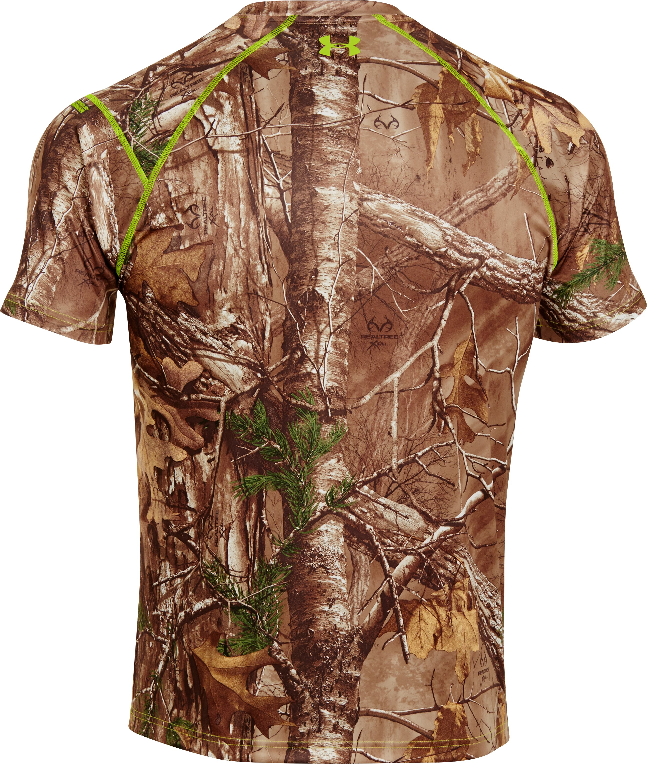 Men's HeatGear® Evo Scent Control Short Sleeve, REALTREE AP-XTRA