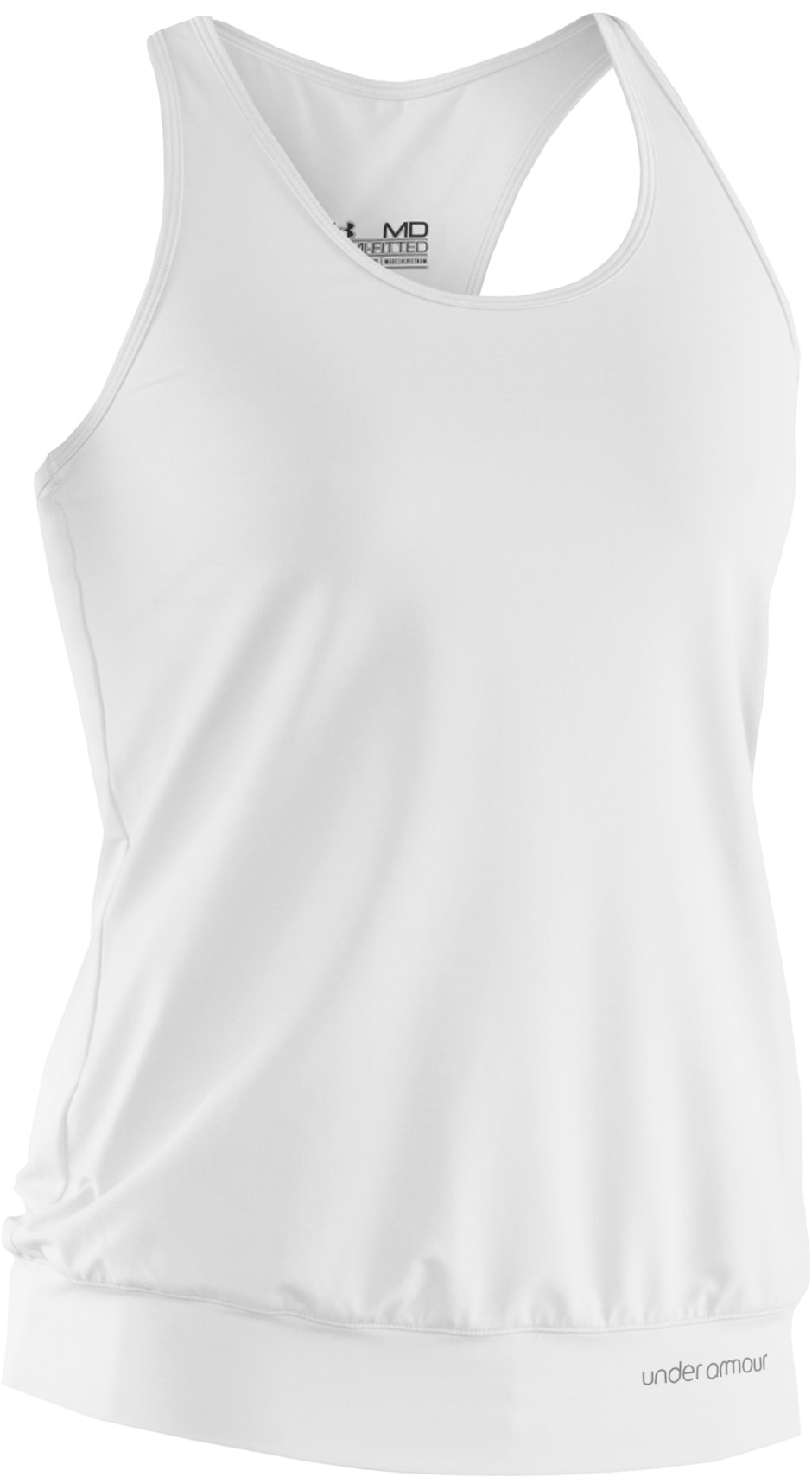 Women's UA Charm Banded Tank, White, undefined