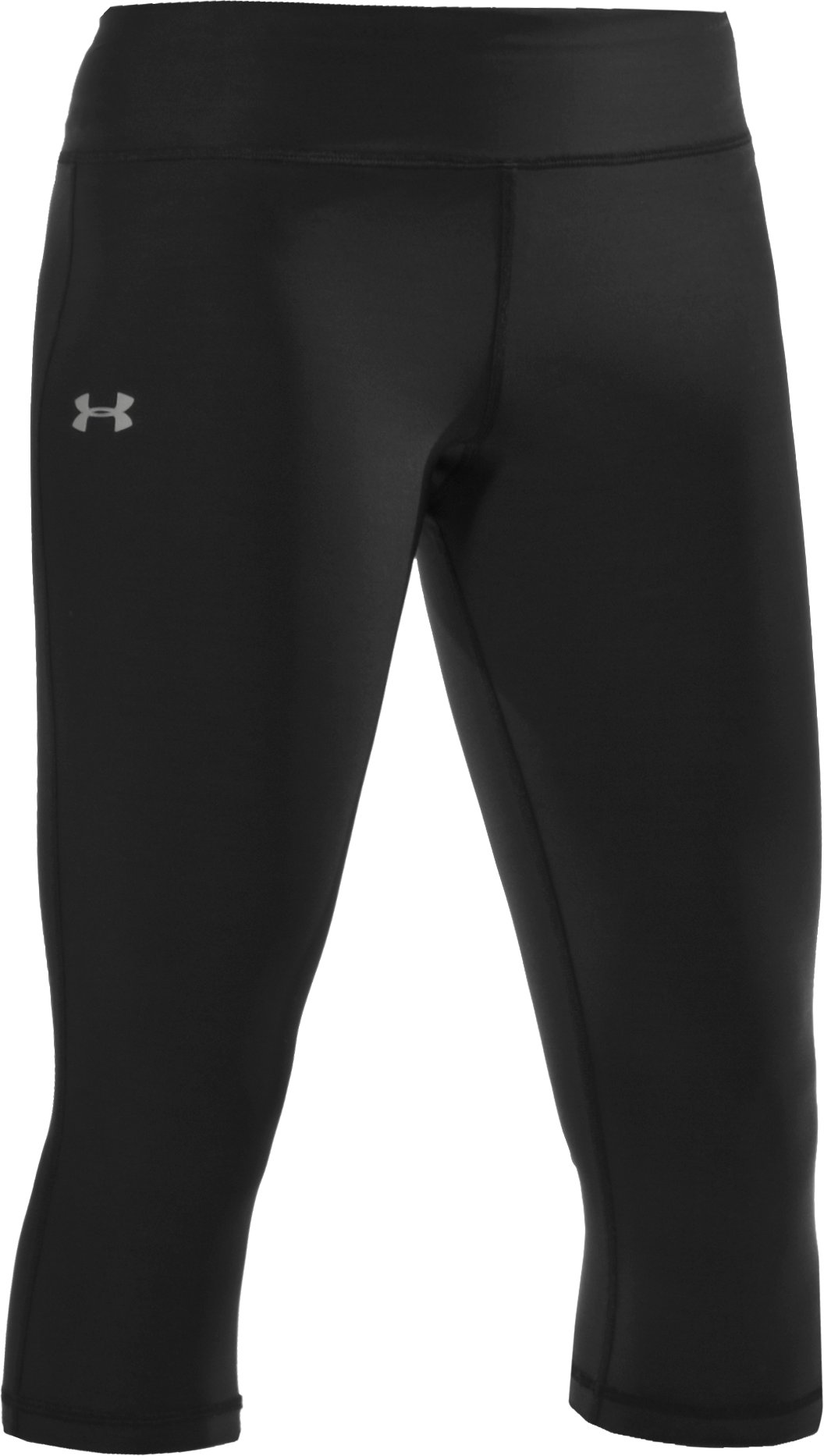 "Women's HeatGear® Lunge 17"" Capri, Black ,"