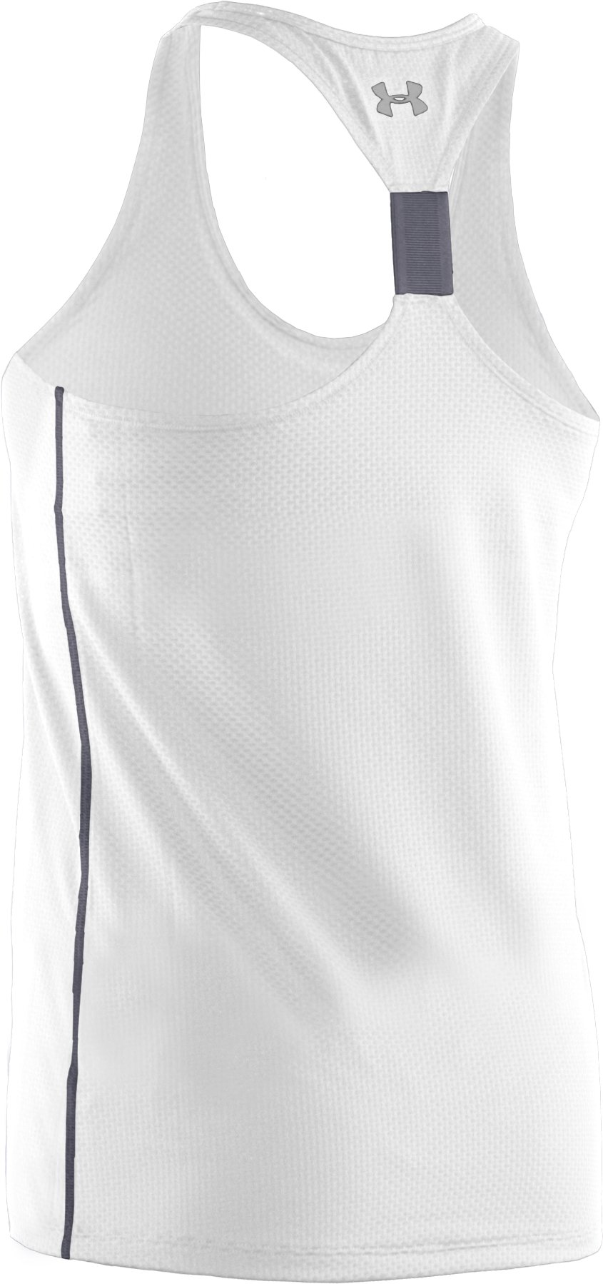 Women's UA Fly-By Stretch Mesh Tank, White, undefined