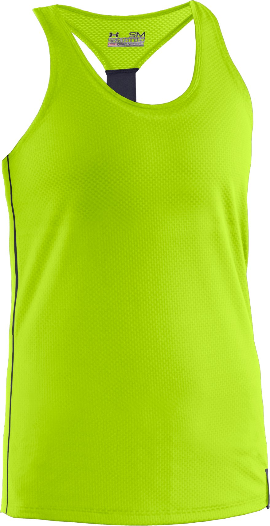 Women's UA Fly-By Stretch Mesh Tank, HYPER GREEN