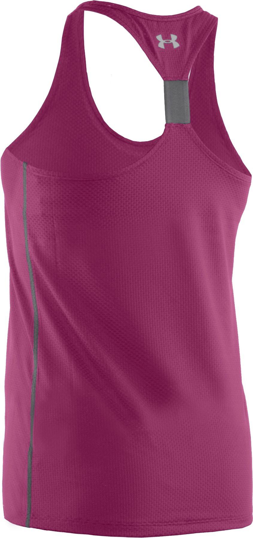 Women's UA Fly-By Stretch Mesh Tank, Rosewood,
