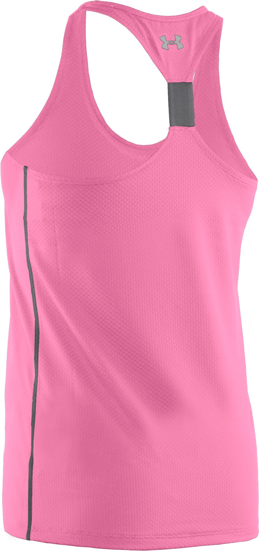 Women's UA Fly-By Stretch Mesh Tank, Fluo Pink, undefined