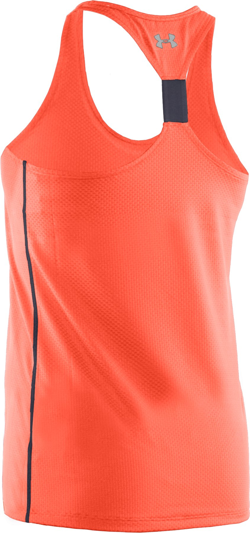 Women's UA Fly-By Stretch Mesh Tank, ELECTRIC TANGERINE, undefined