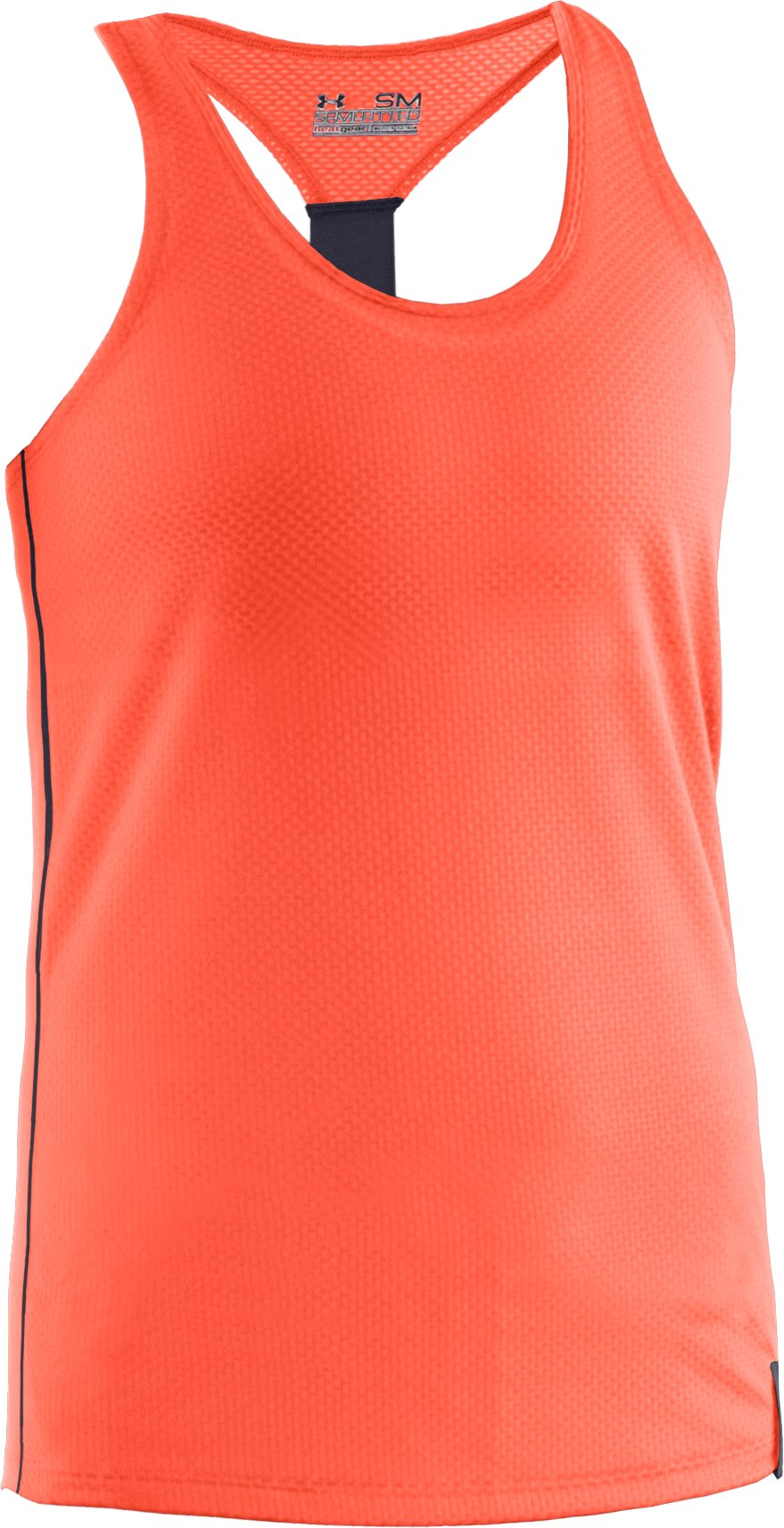 Women's UA Fly-By Stretch Mesh Tank, ELECTRIC TANGERINE