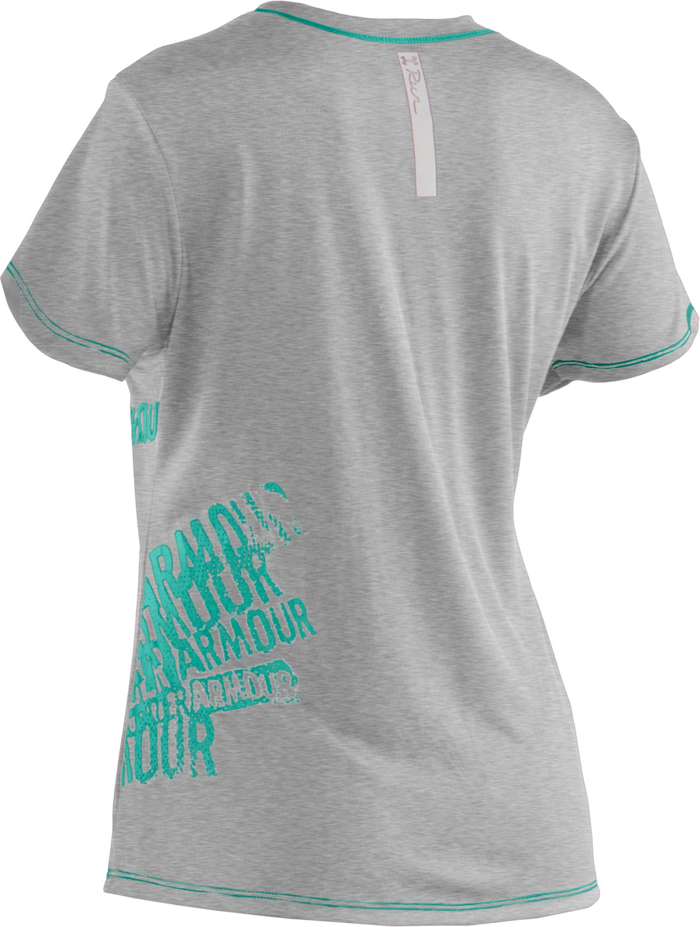 Women's UA Run Graphic V-Neck, True Gray Heather