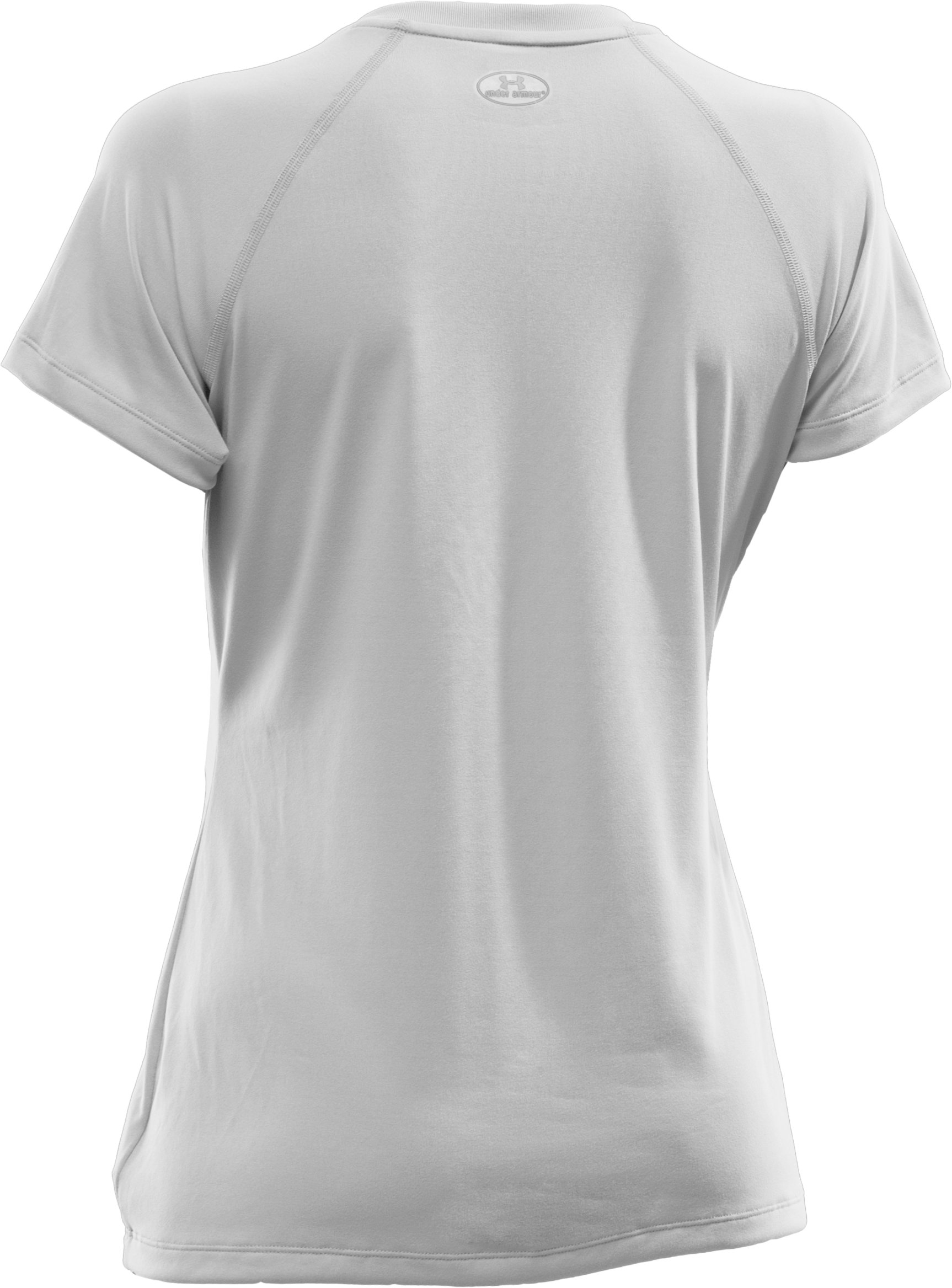 Women's UA Tech™ Short Sleeve V-Neck, White, undefined