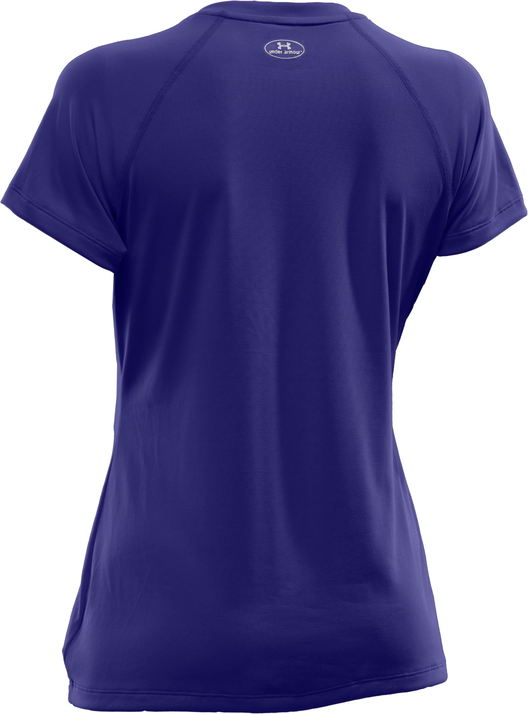 Women's UA Tech™ Short Sleeve V-Neck, Monarchy