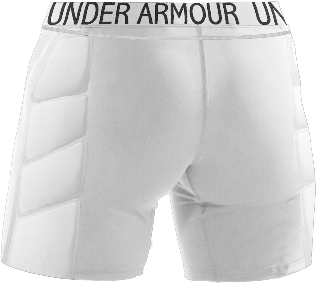 "Women's UA MPZ® Strike-Zone 7"" Slider, White,"